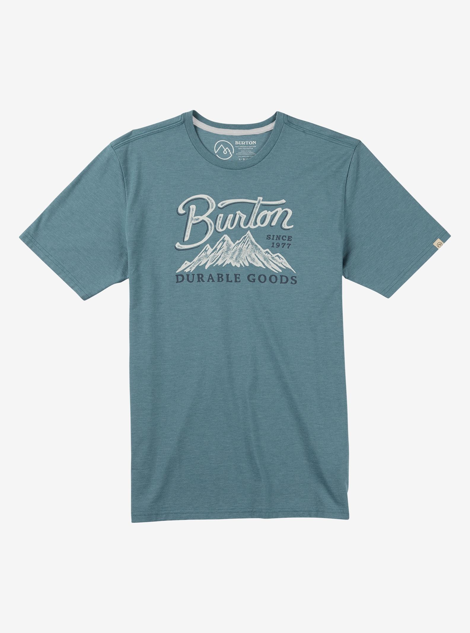 Burton Front Range Short Sleeve T Shirt shown in Light Indigo Heather