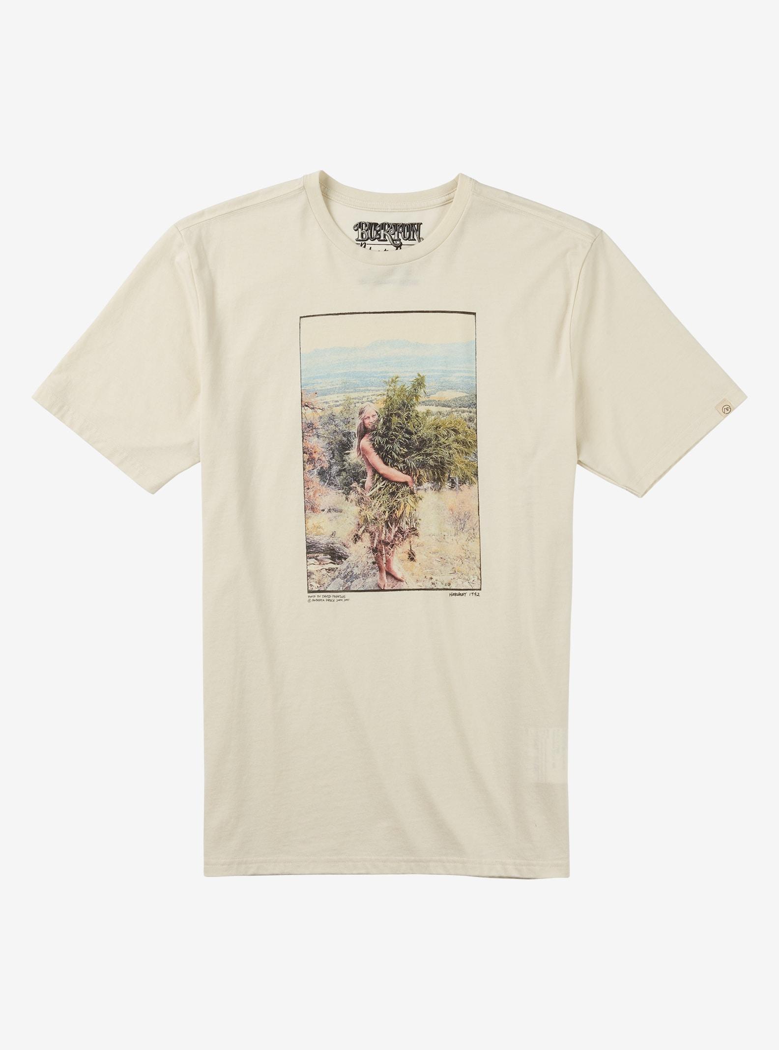 Burton Harvest Short Sleeve T Shirt shown in Vintage White