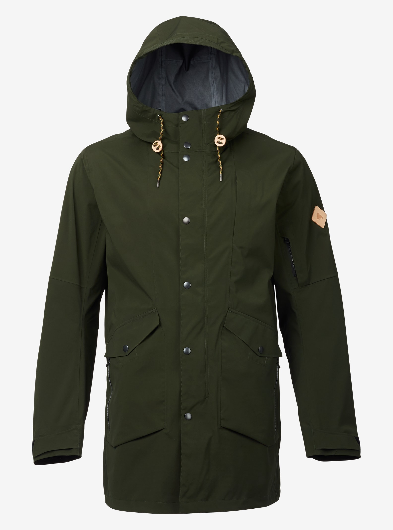 Burton GORE-TEX® 3L B-17 3L Rain Jacket shown in Rifle Green