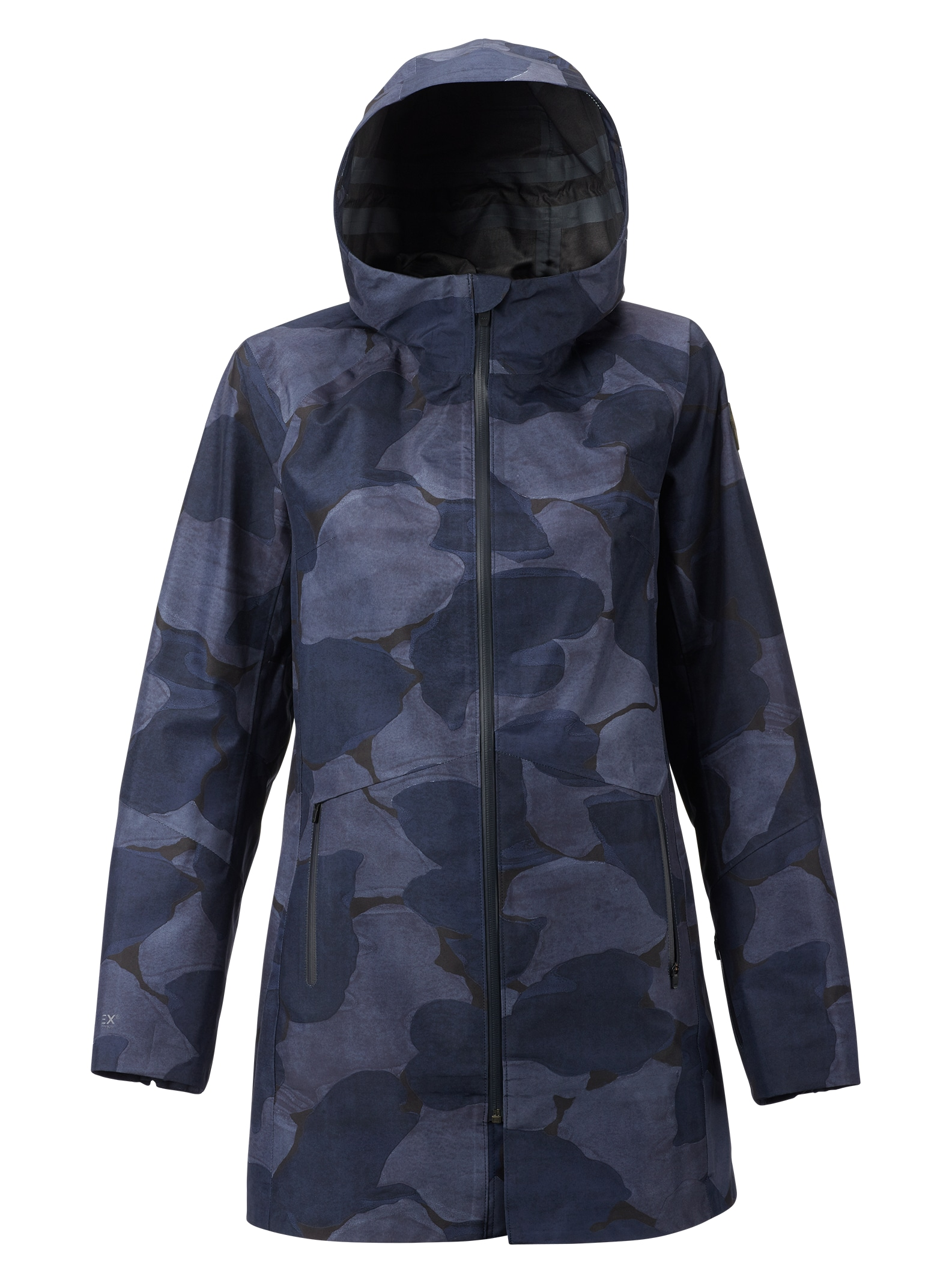 Burton GORE-TEX® 3L Cady Rain Parka shown in Mood Indigo Pond Camo