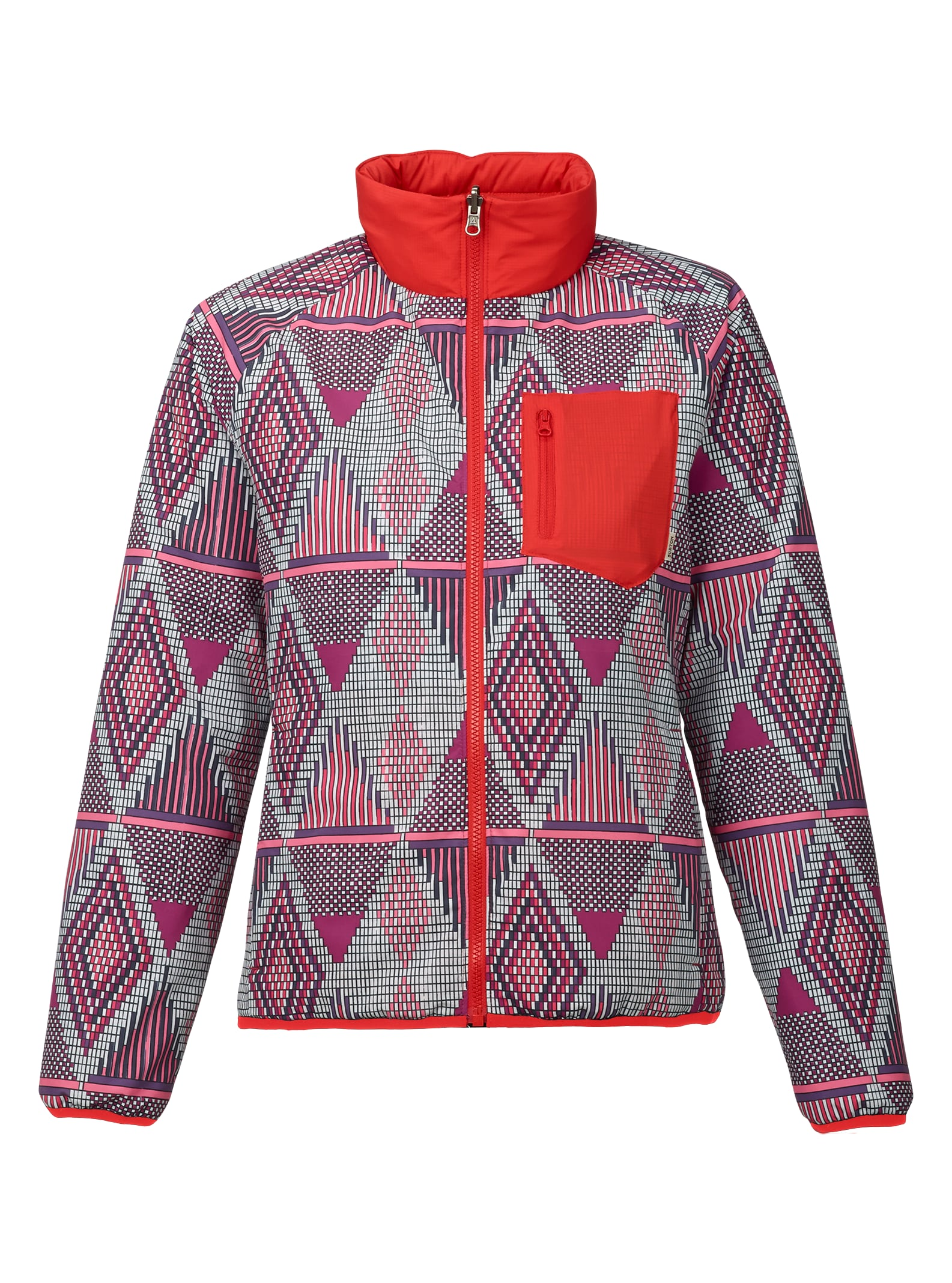 Burton Hella Light Insulator Jacket shown in Anemone De Geo / Coral