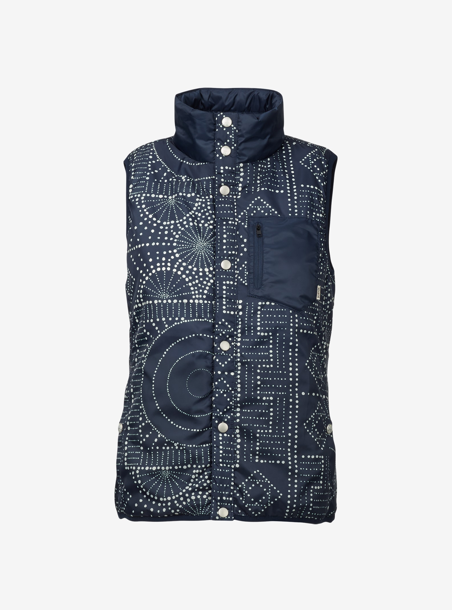 Burton Hella Light Insulator Vest shown in Bandota / Mood Indigo
