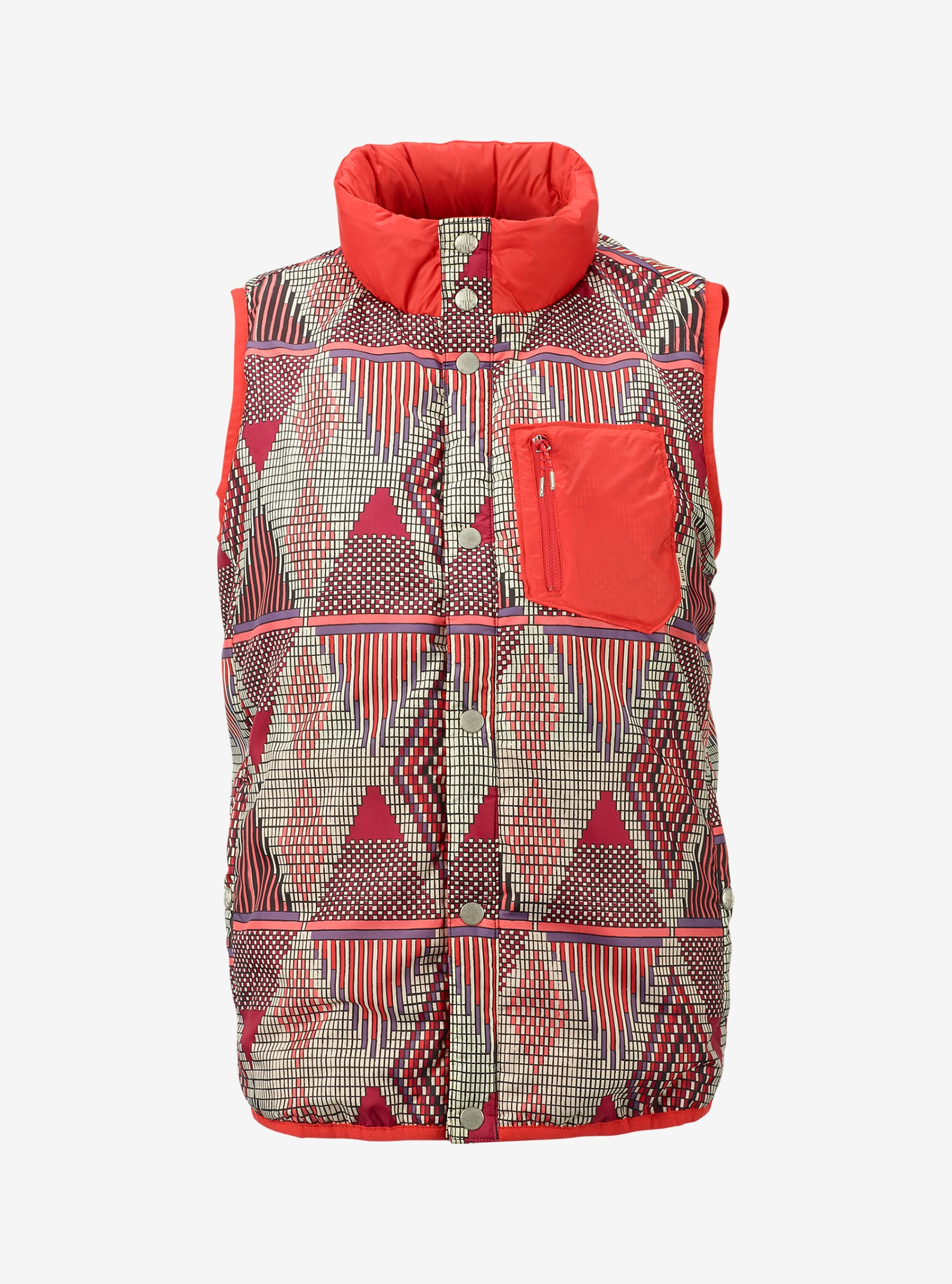 Burton Hella Light Insulator Vest shown in Anemone De Geo / Coral