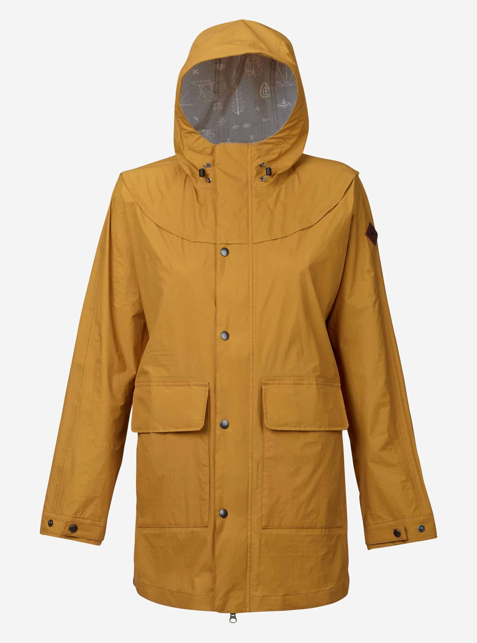 Burton Flare Parka Rain Jacket shown in Golden Yellow