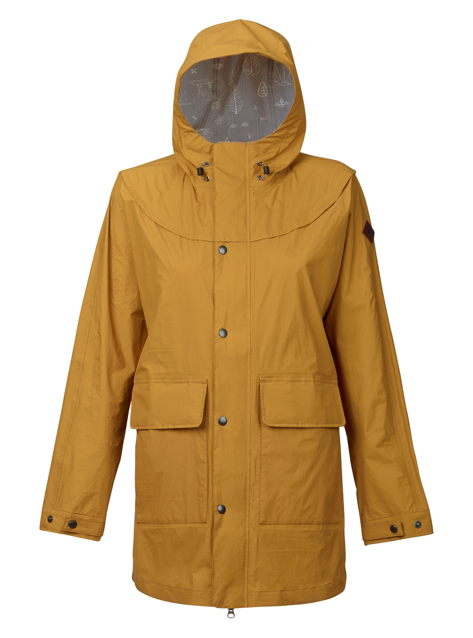 Burton Flare Parka-Regenjacke angezeigt in Golden Yellow