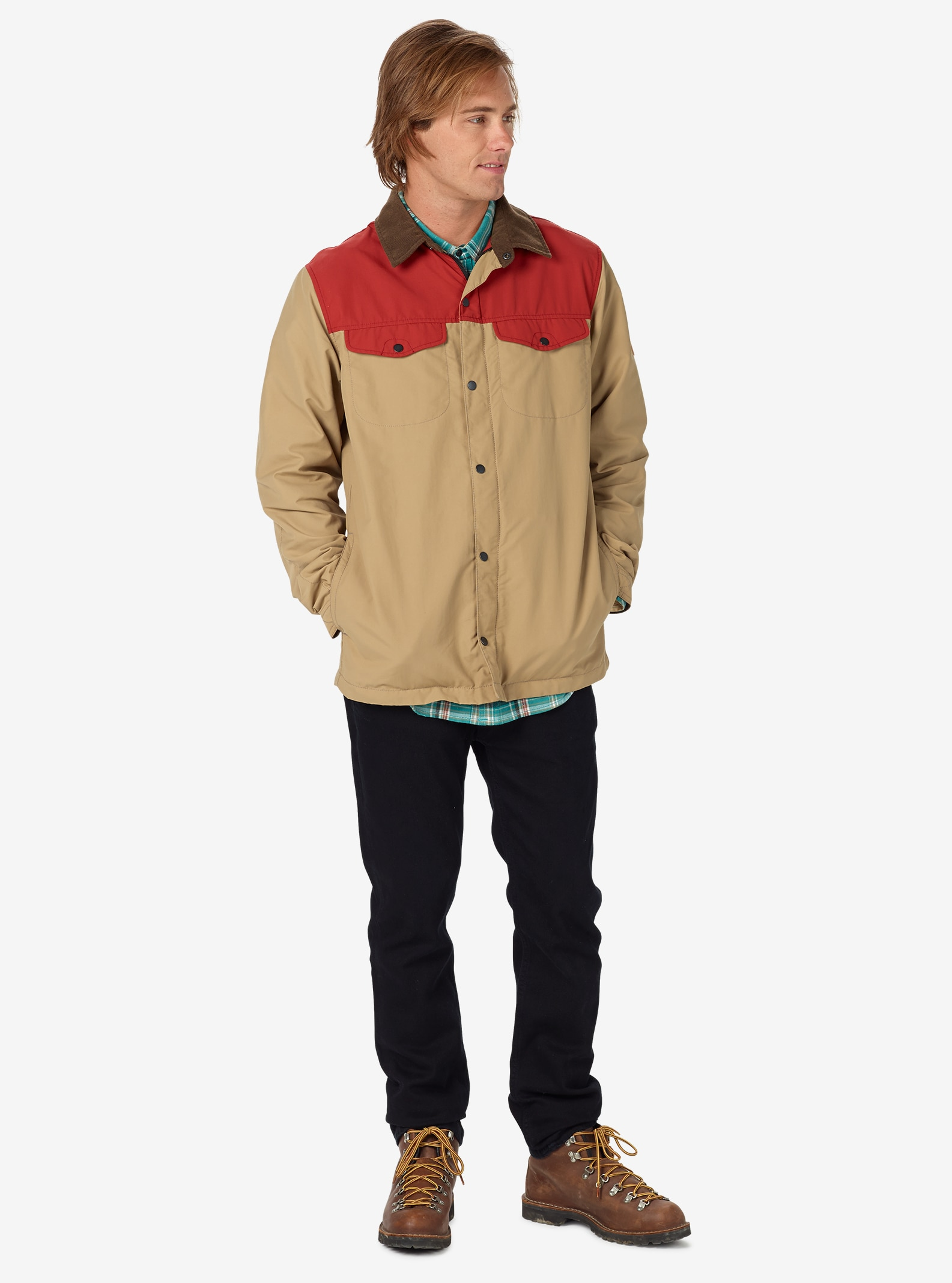 Burton Stead Rain Jacket shown in Tandori / Kelp