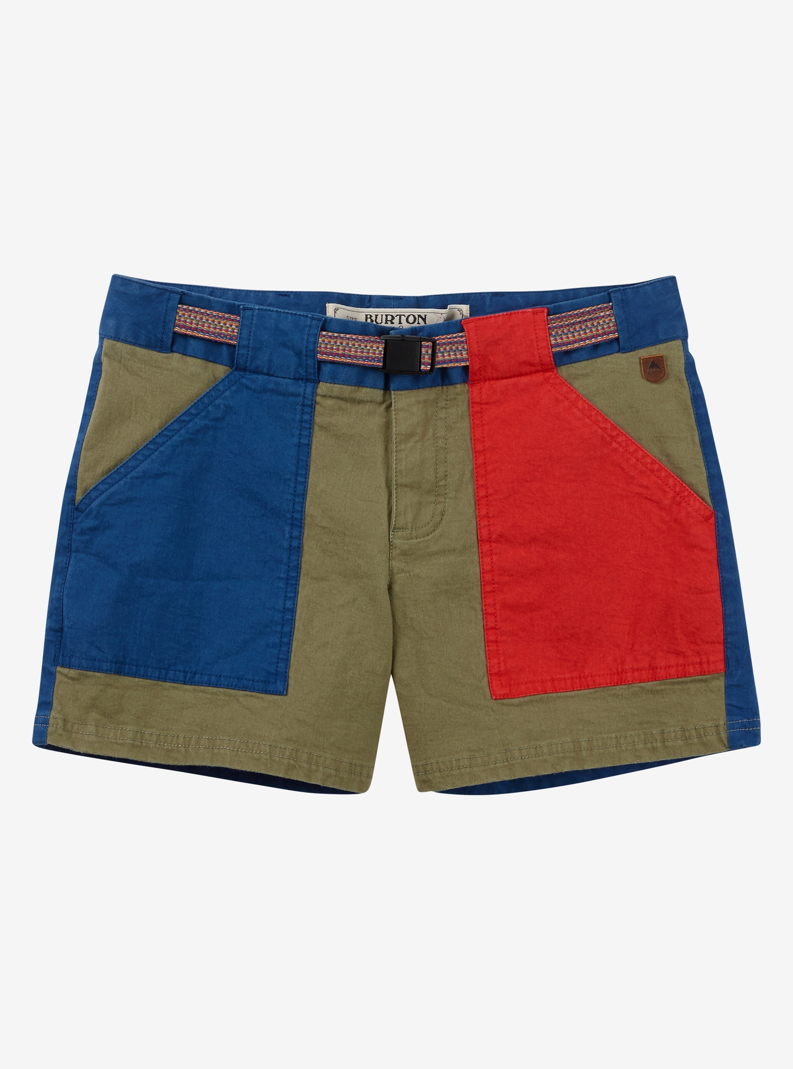 Burton Loco Shorts angezeigt in Lichen Green / True Blue / Coral