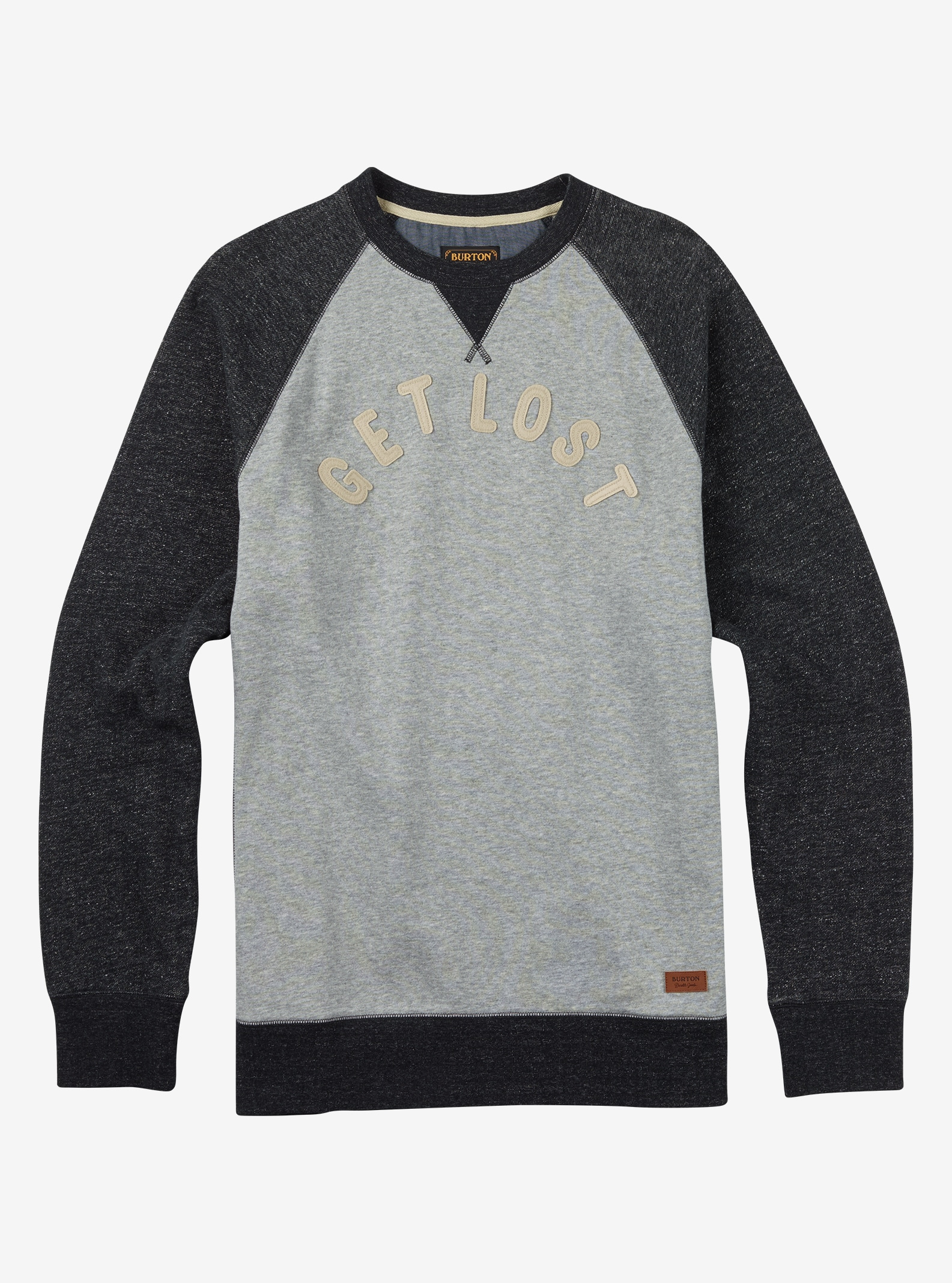 Burton Lost and Found Crew shown in Gray Heather