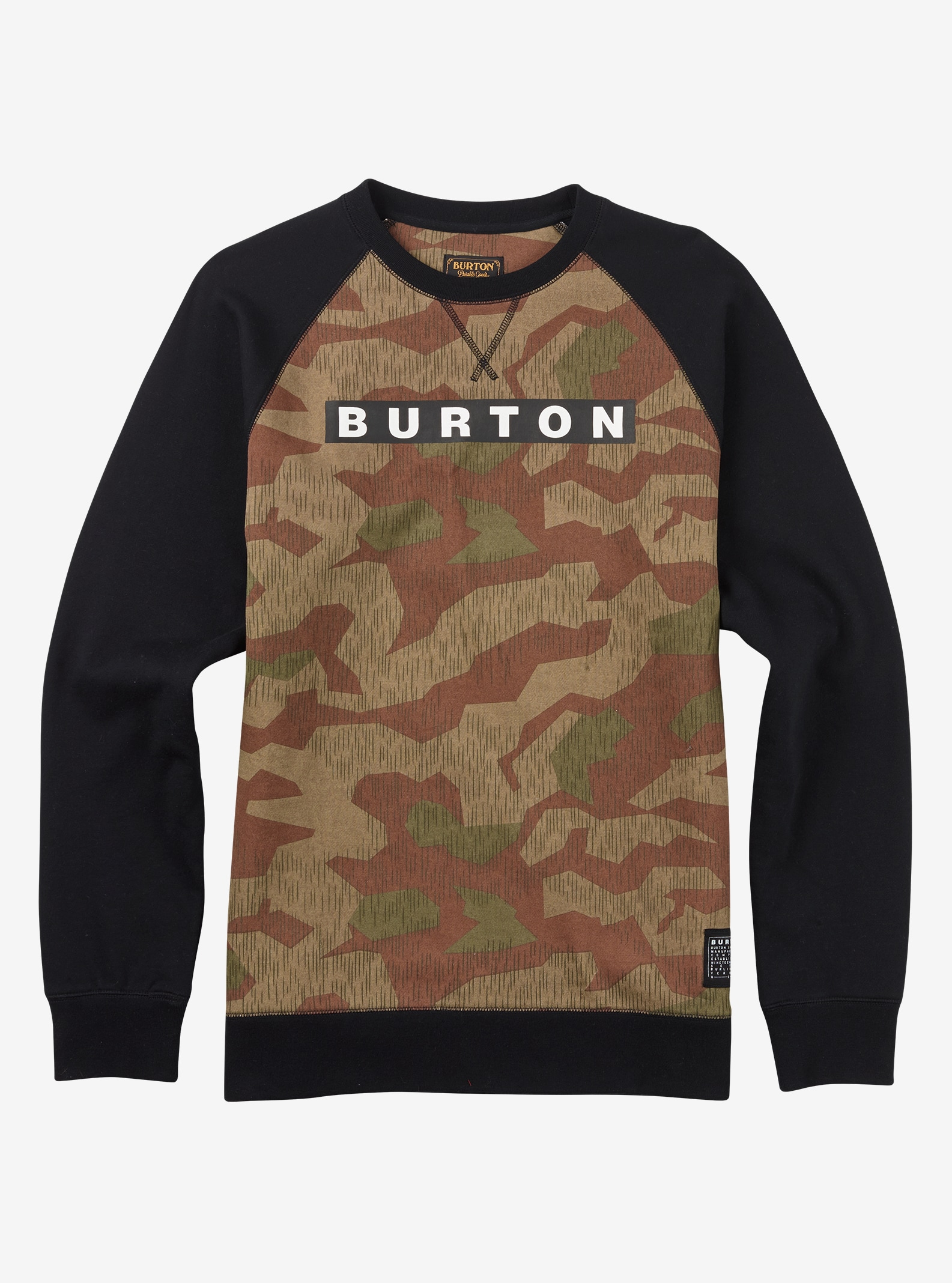 Burton Vault Crew shown in Splinter Camo