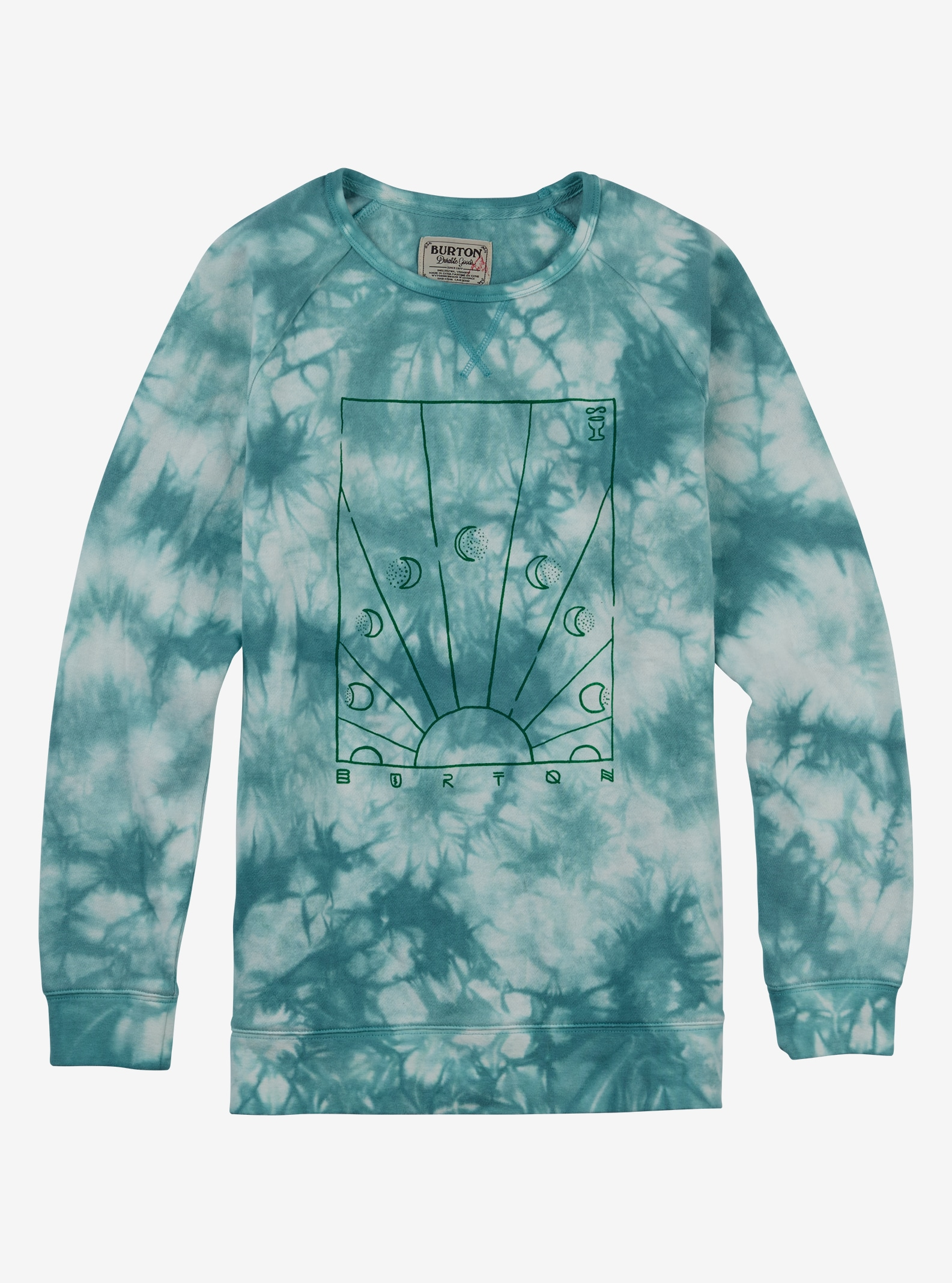 Burton Dusk Crew shown in Agate Tie Dye