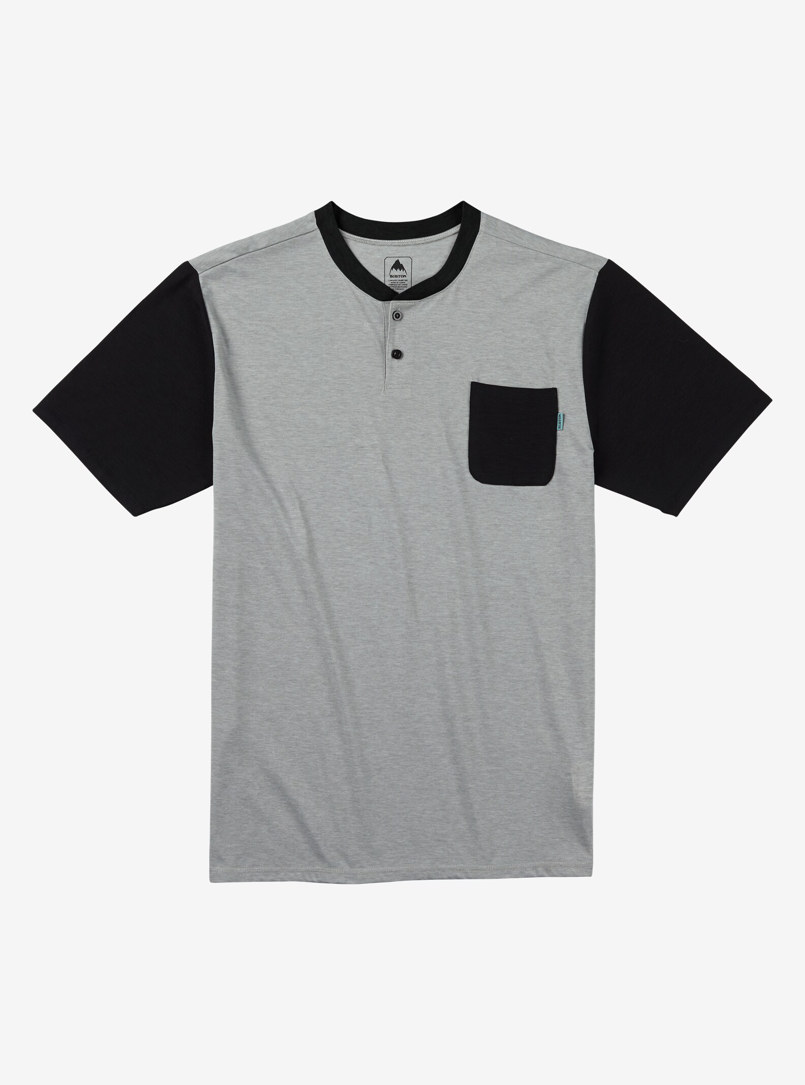 Burton Bradley Henley Tee shown in Gray Heather