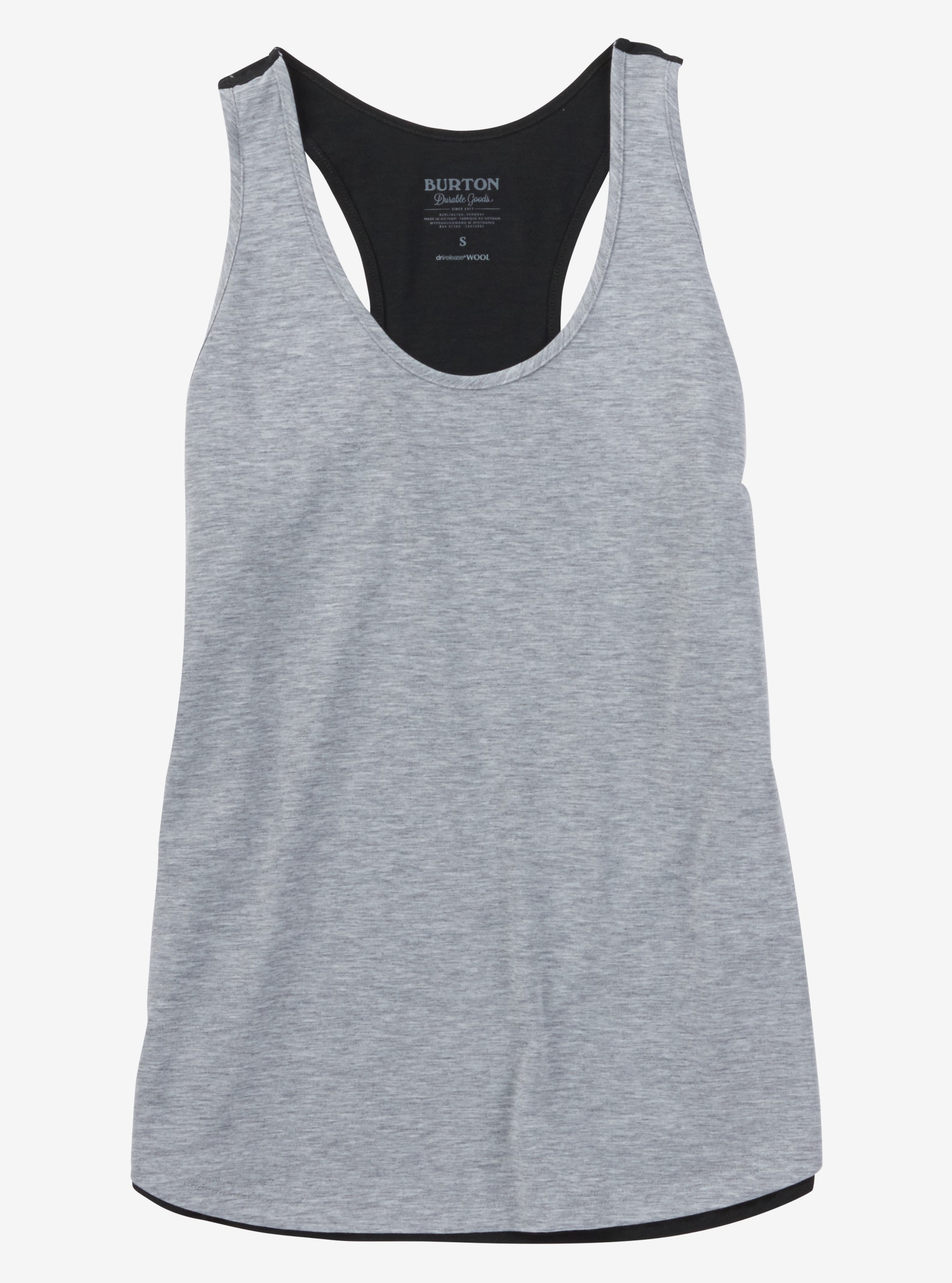 Burton Step Out Tank shown in Gray Heather