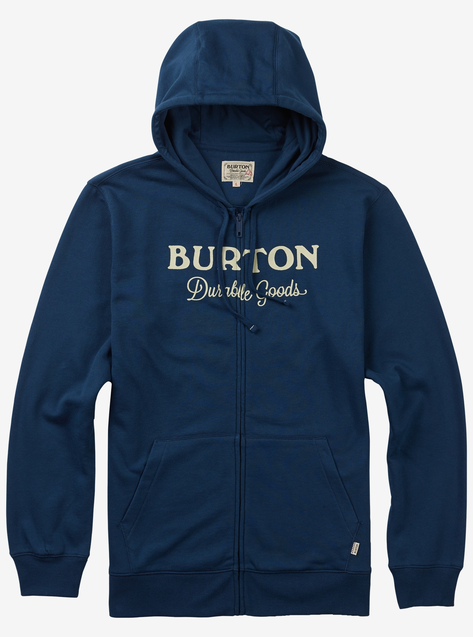 Burton Durable Goods Full-Zip Hoodie shown in Indigo