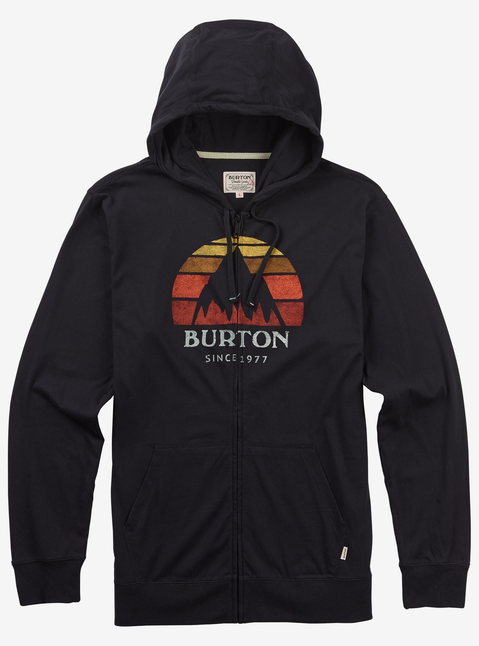 Burton Underhill Logo Full-Zip Hoodie shown in True Black