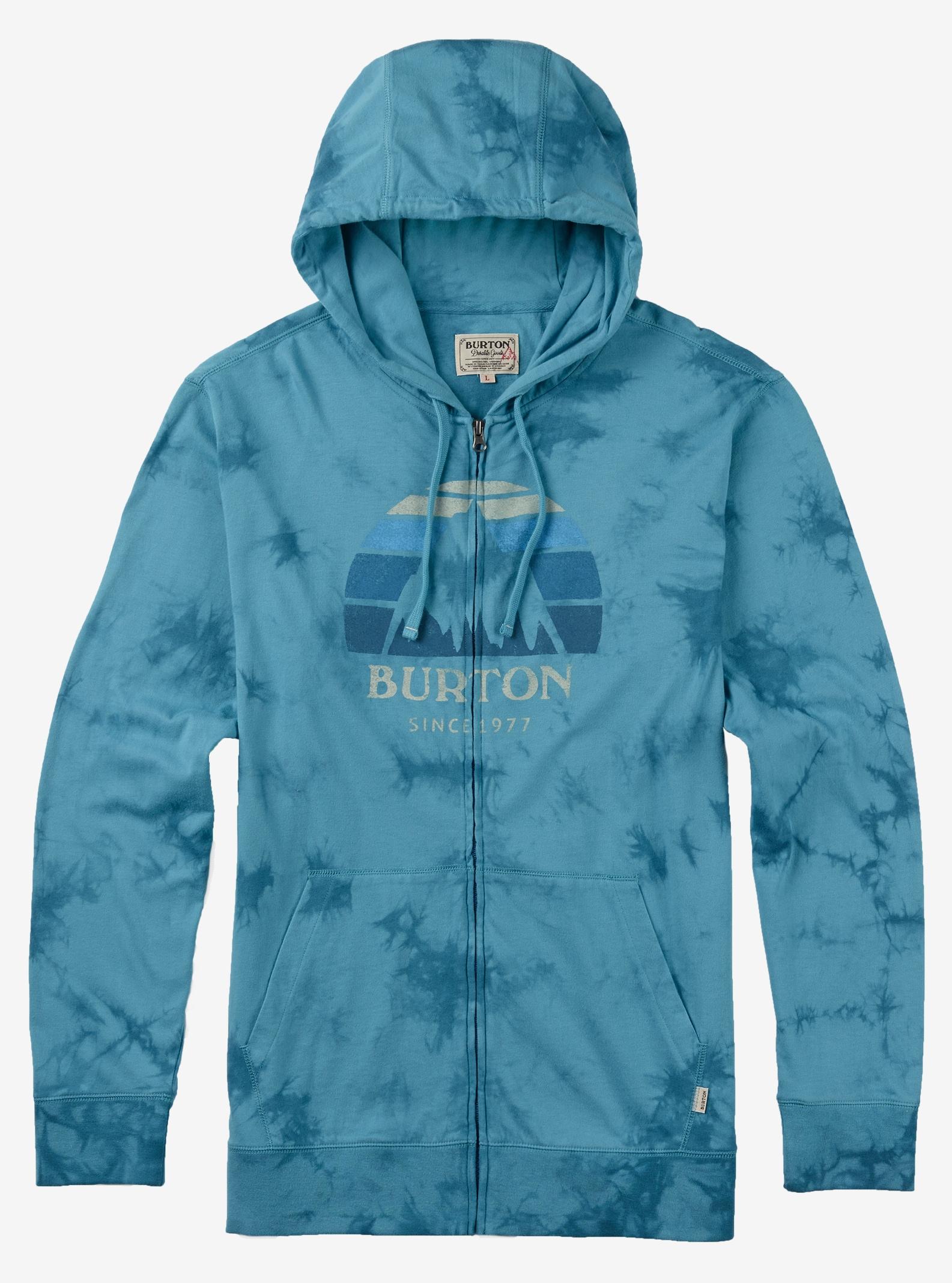 Burton Underhill Logo Full-Zip Hoodie shown in Indigo Tie Dye