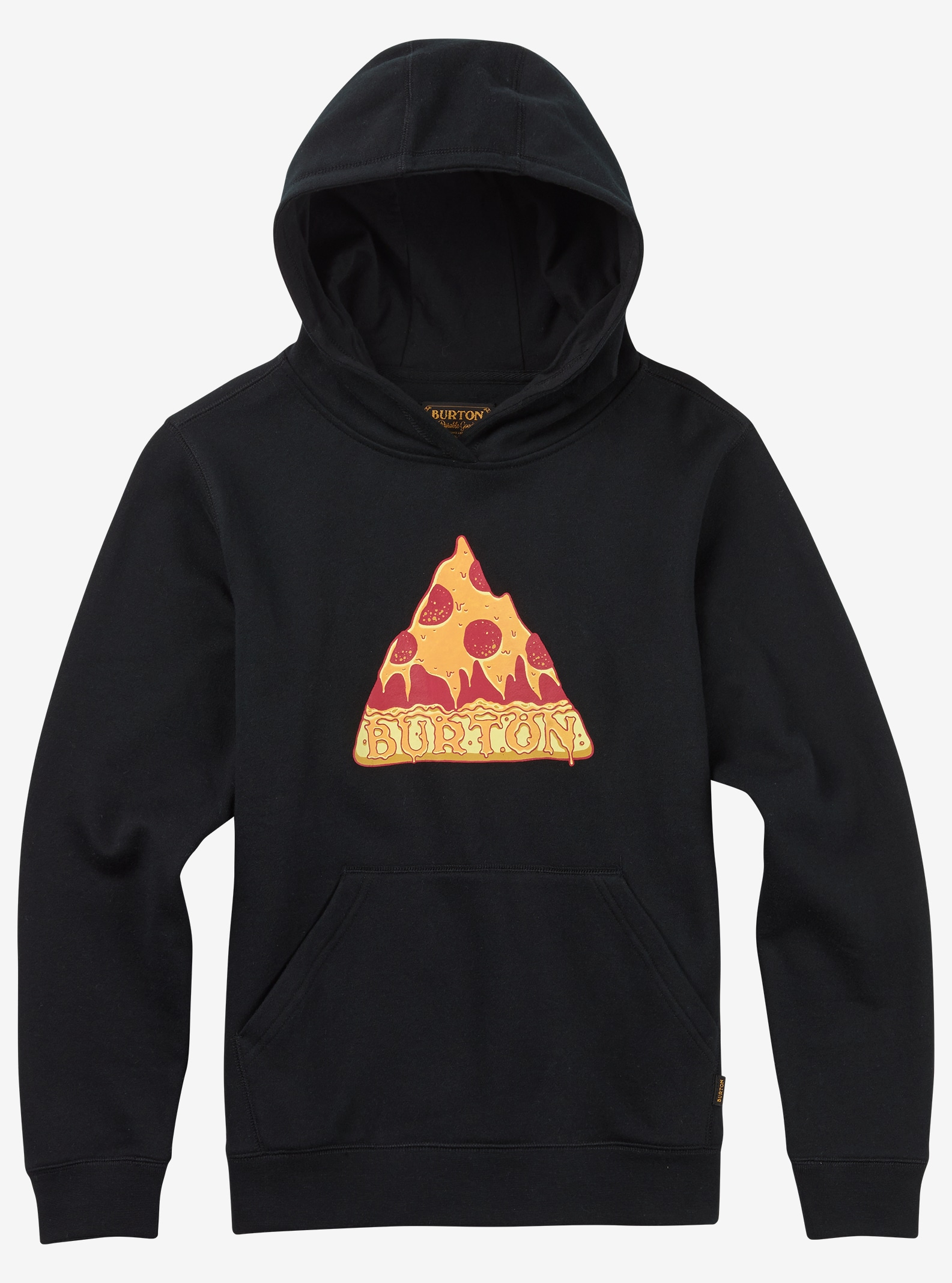 Burton Boys' Mountain Pizza Pullover shown in True Black