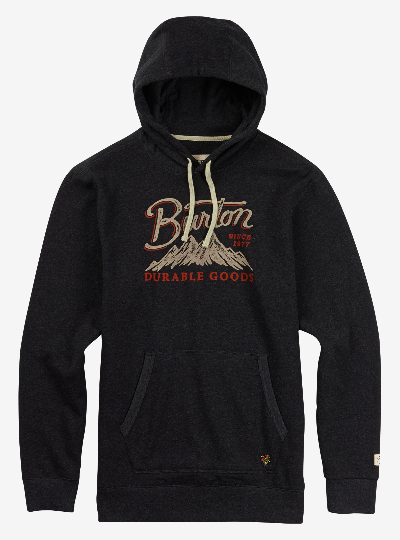 Burton Front Range Pullover Hoodie shown in True Black Heather
