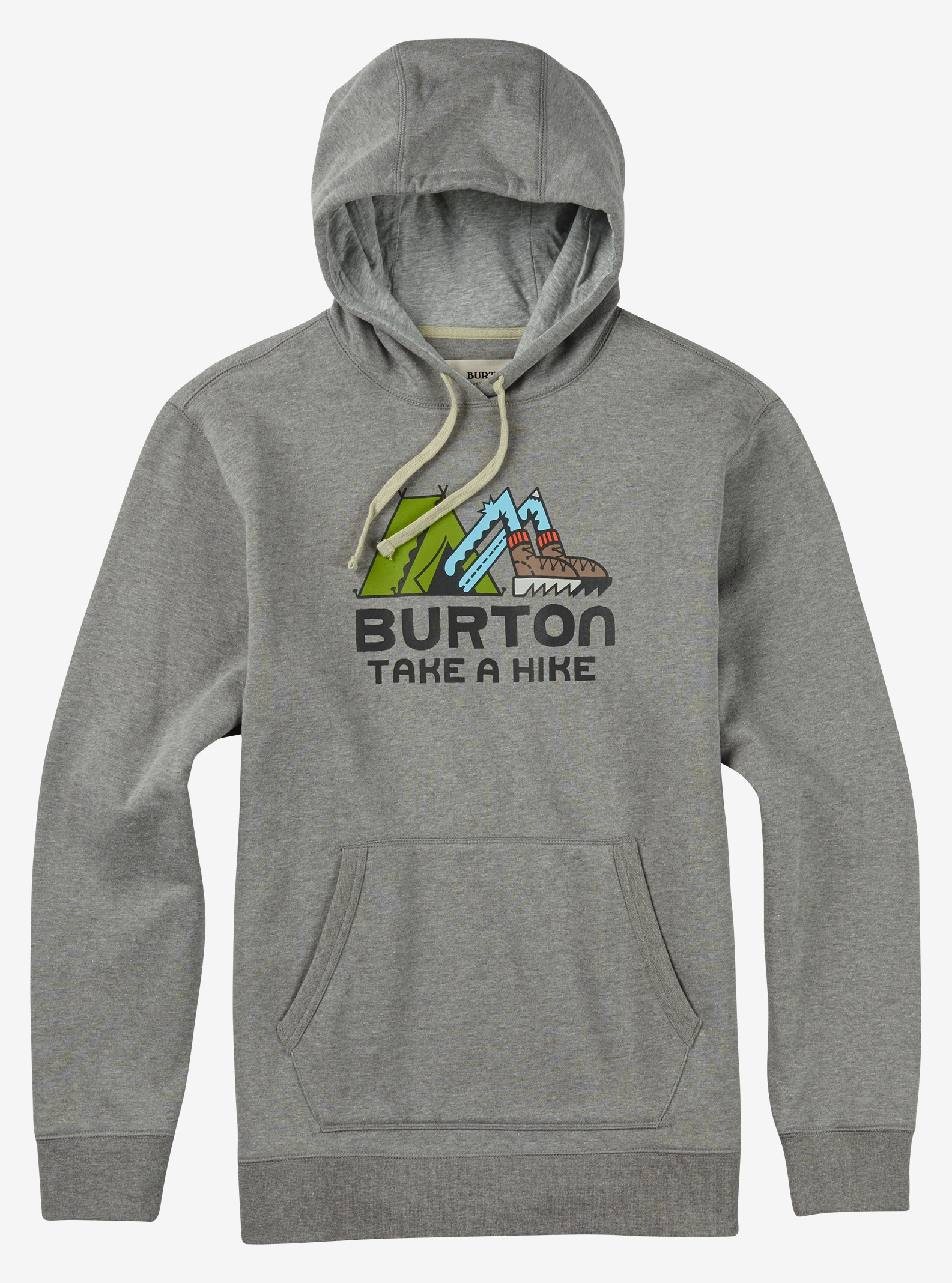 Burton Take A Hike Pullover Hoodie shown in Gray Heather