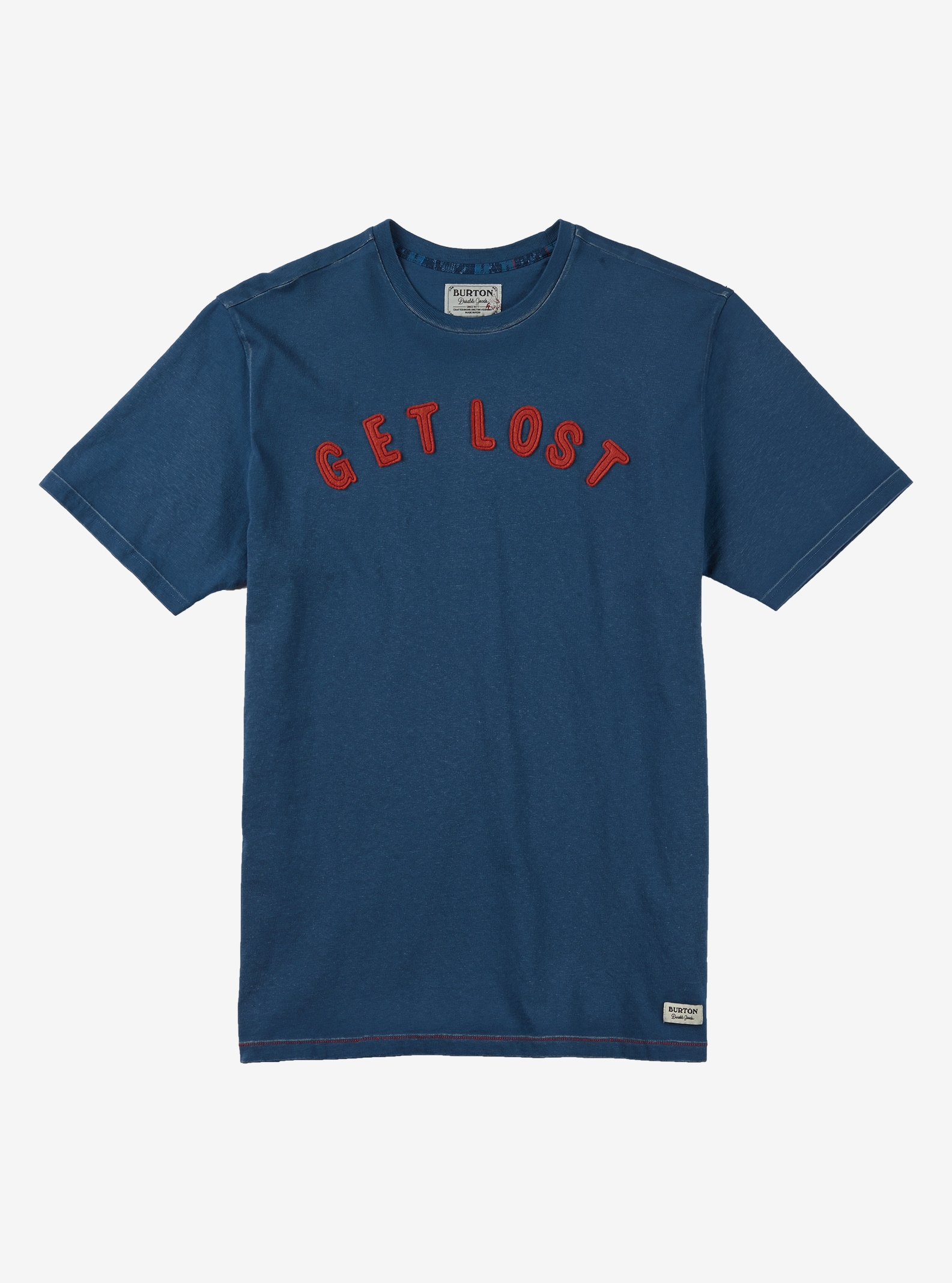Burton Lost and Found Short Sleeve T Shirt shown in Indigo
