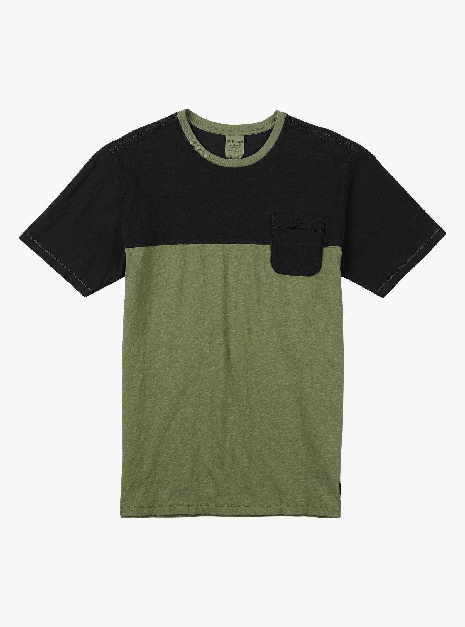Burton Raymond Short Sleeve T Shirt shown in Oil Green