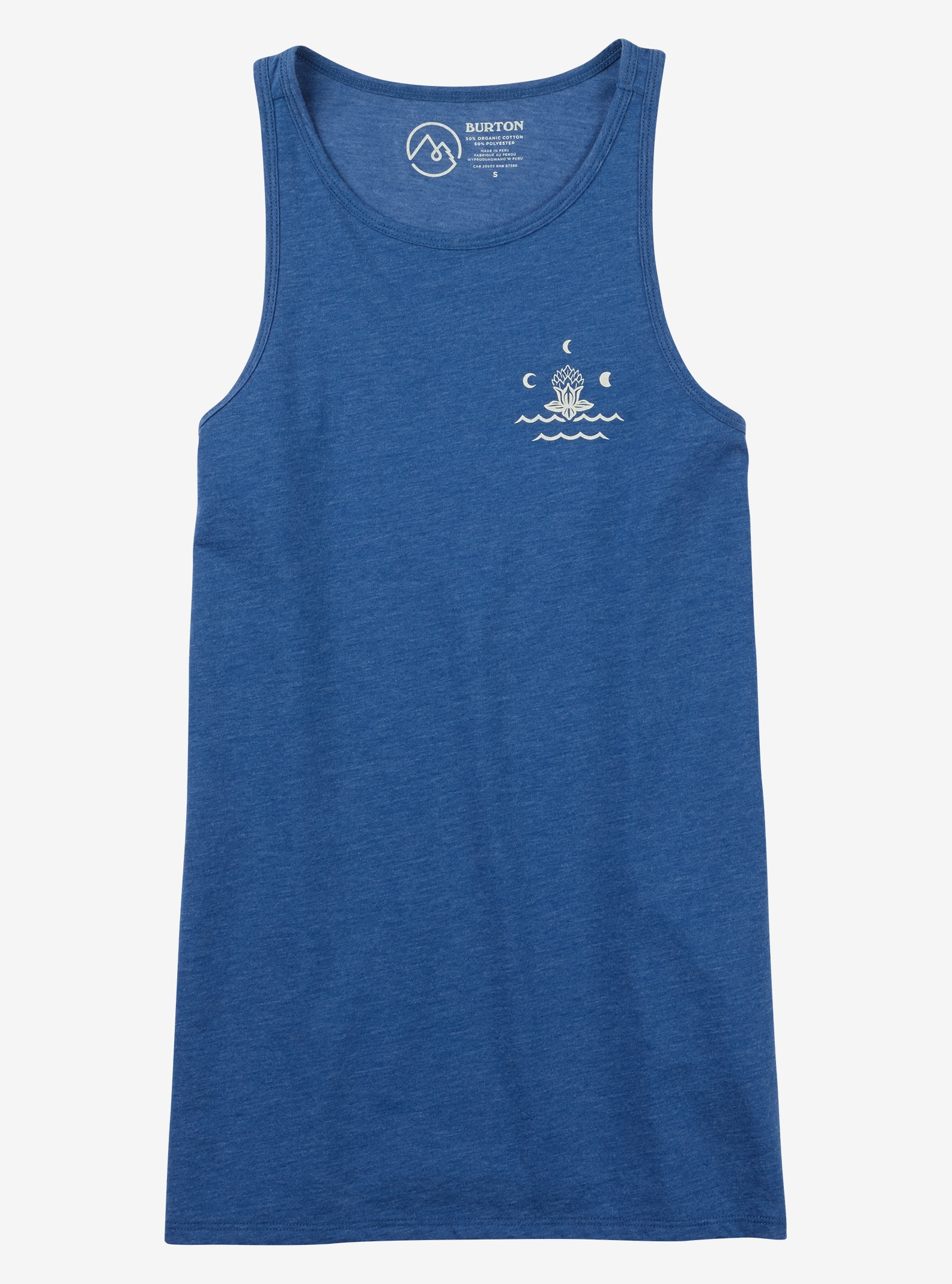 Burton Carta Tanktop angezeigt in True Blue Heather