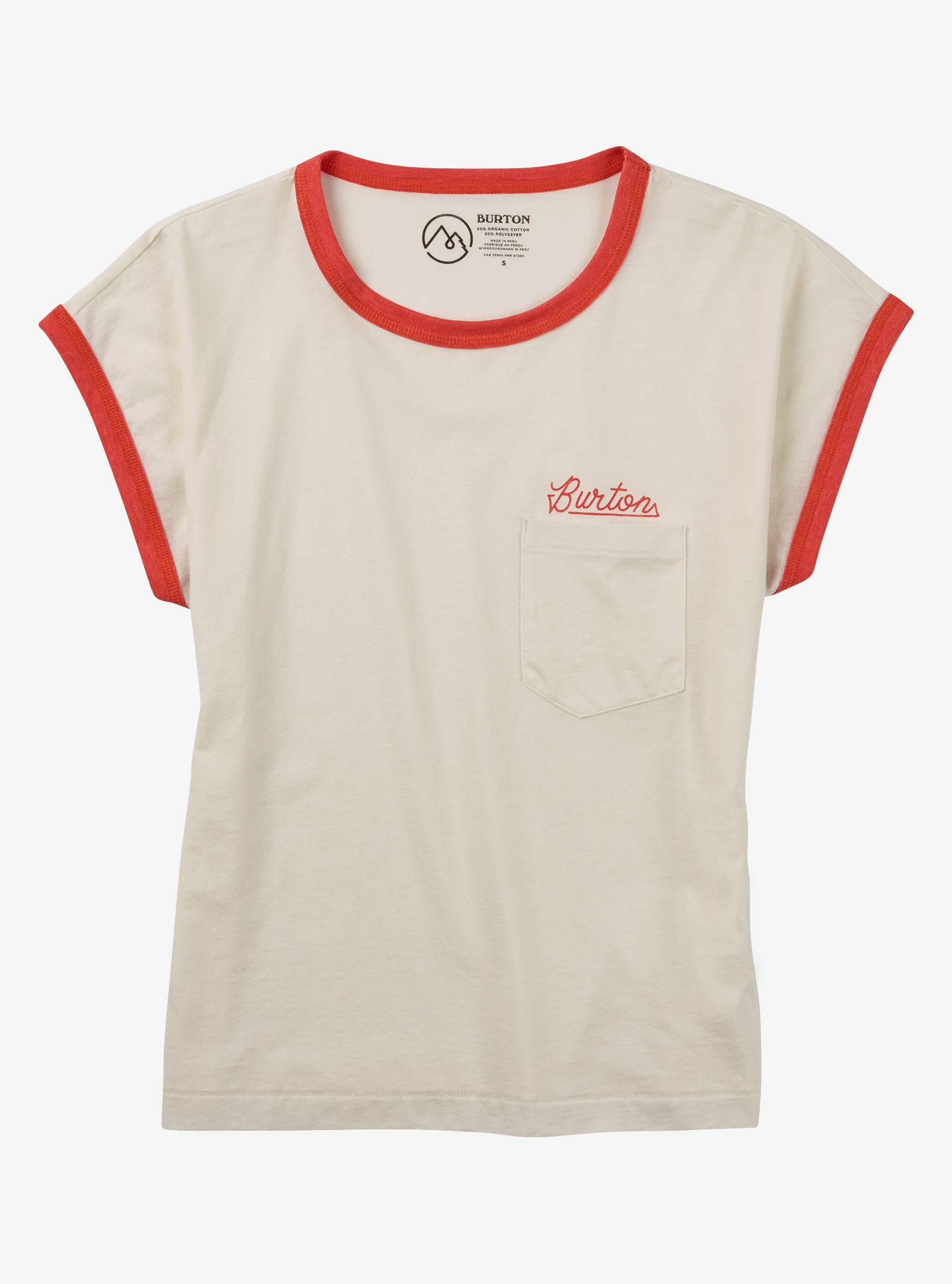 Burton Embrace the Surreal Short Sleeve Tee shown in Canvas Heather