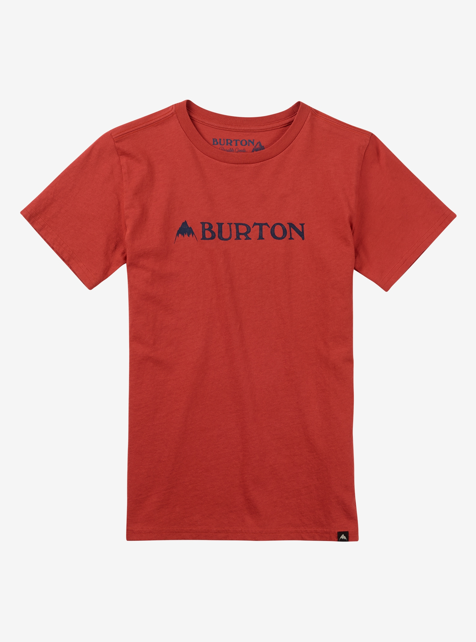 Burton Boys' Mountain Horizontal Short Sleeve T Shirt shown in Tandori