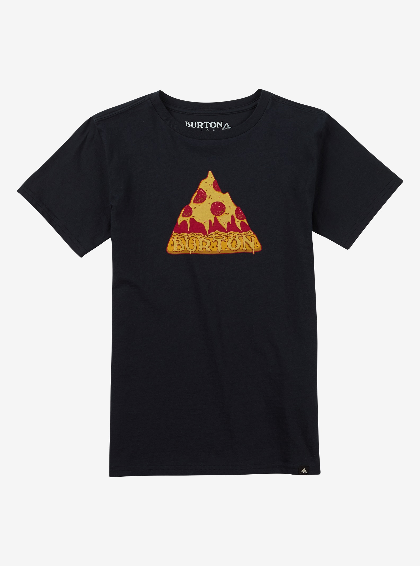 Burton Boys' Mountain Pizza Short Sleeve T Shirt shown in True Black