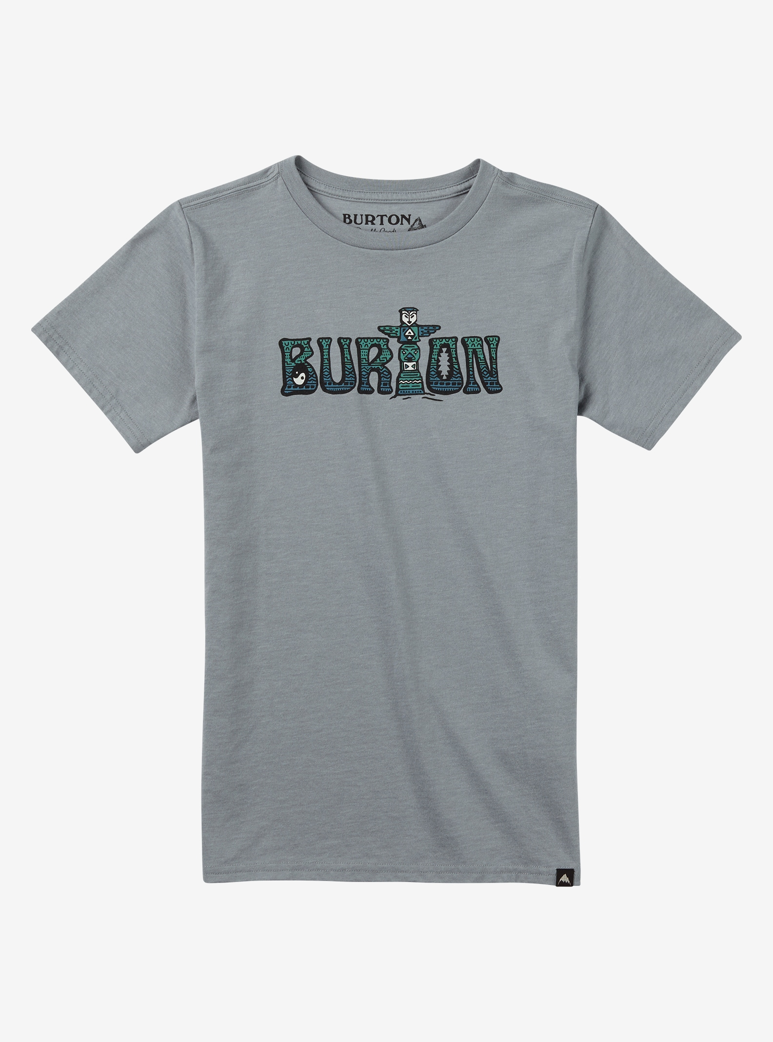 Burton Boys' Wild Child Short Sleeve T Shirt shown in Gray Heather