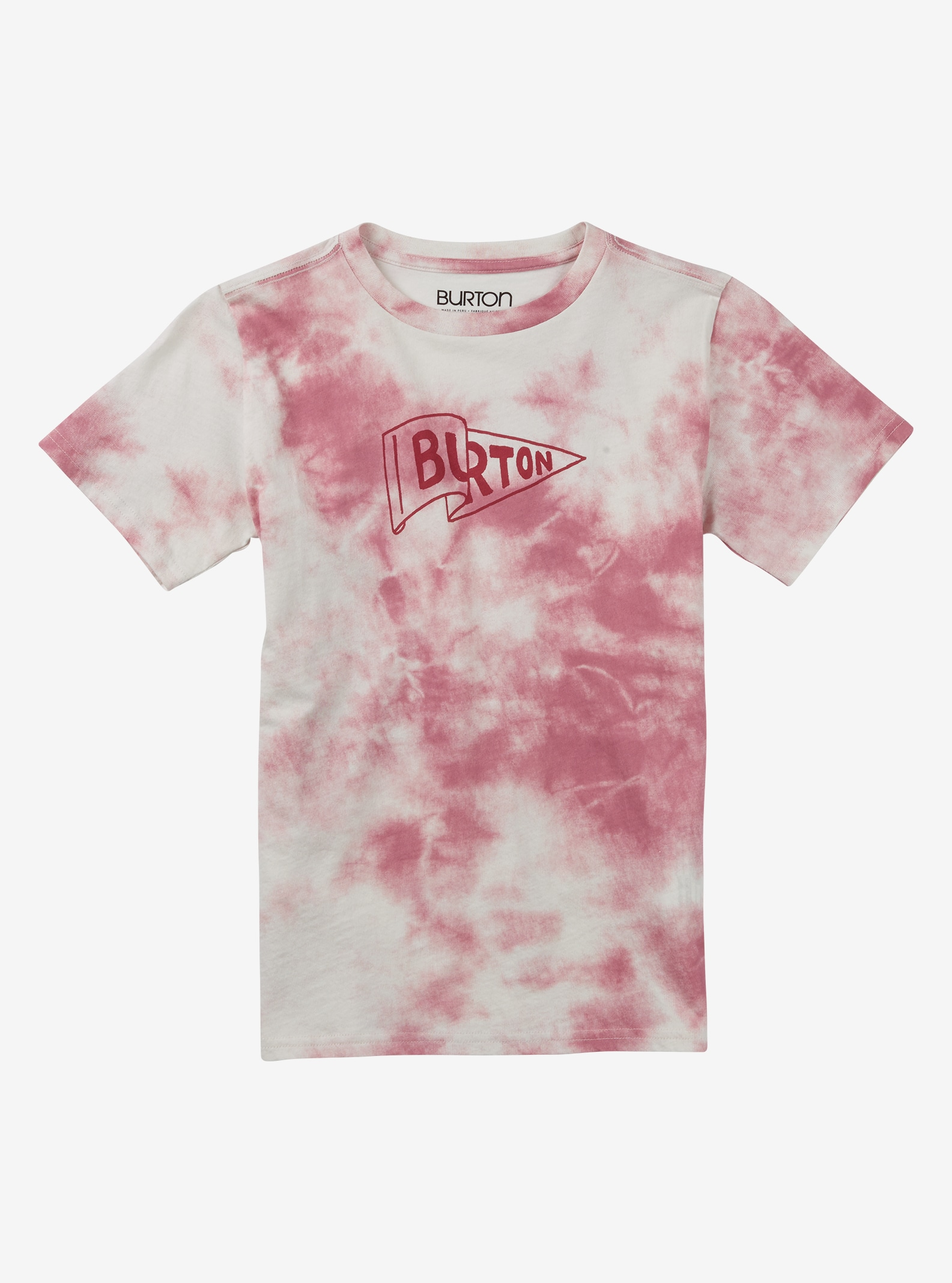 Burton Girls' Pennant Short Sleeve T Shirt shown in Berry Tie Dye
