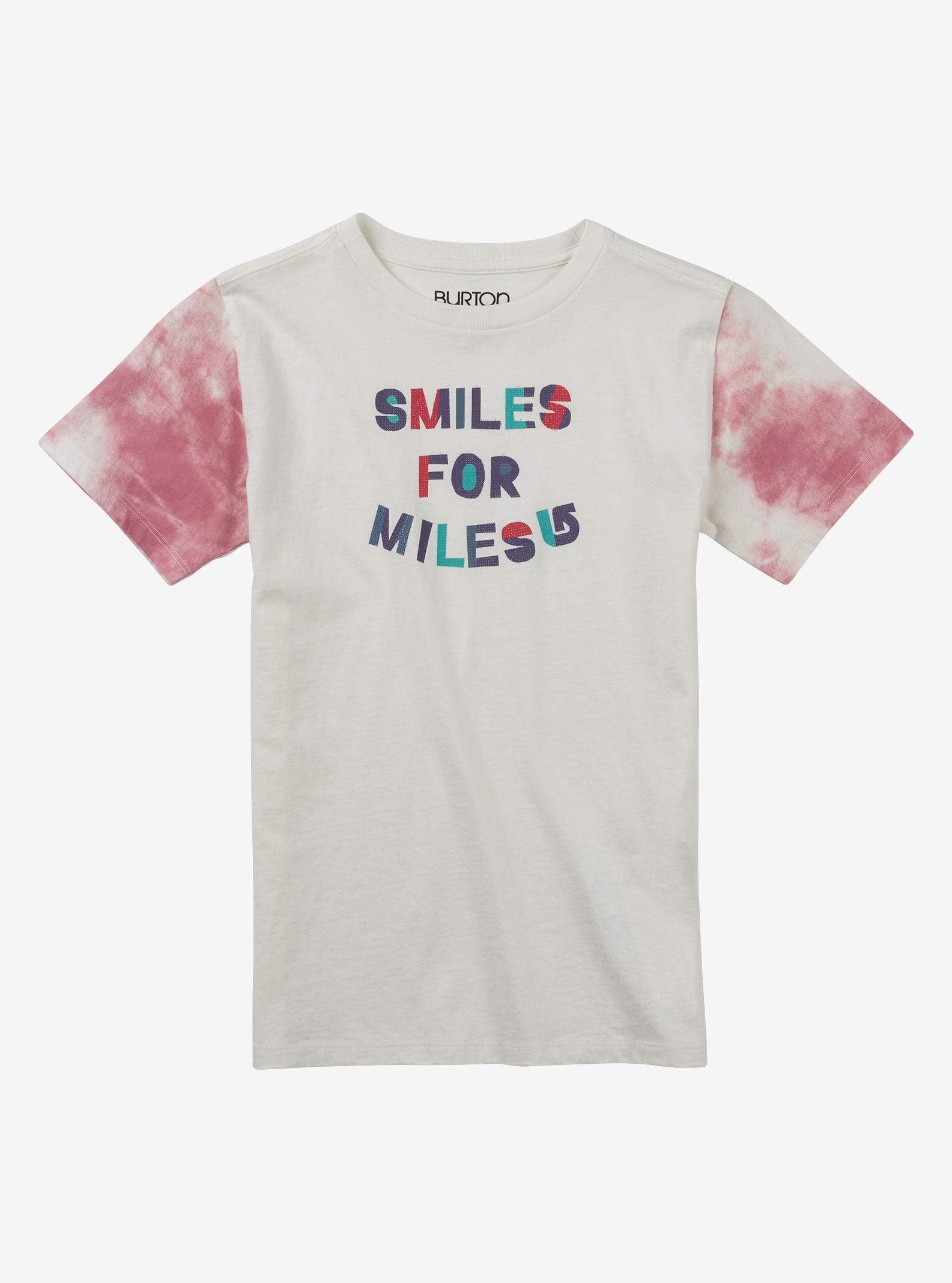 Burton Girls' Smiles Short Sleeve T Shirt shown in Stout White