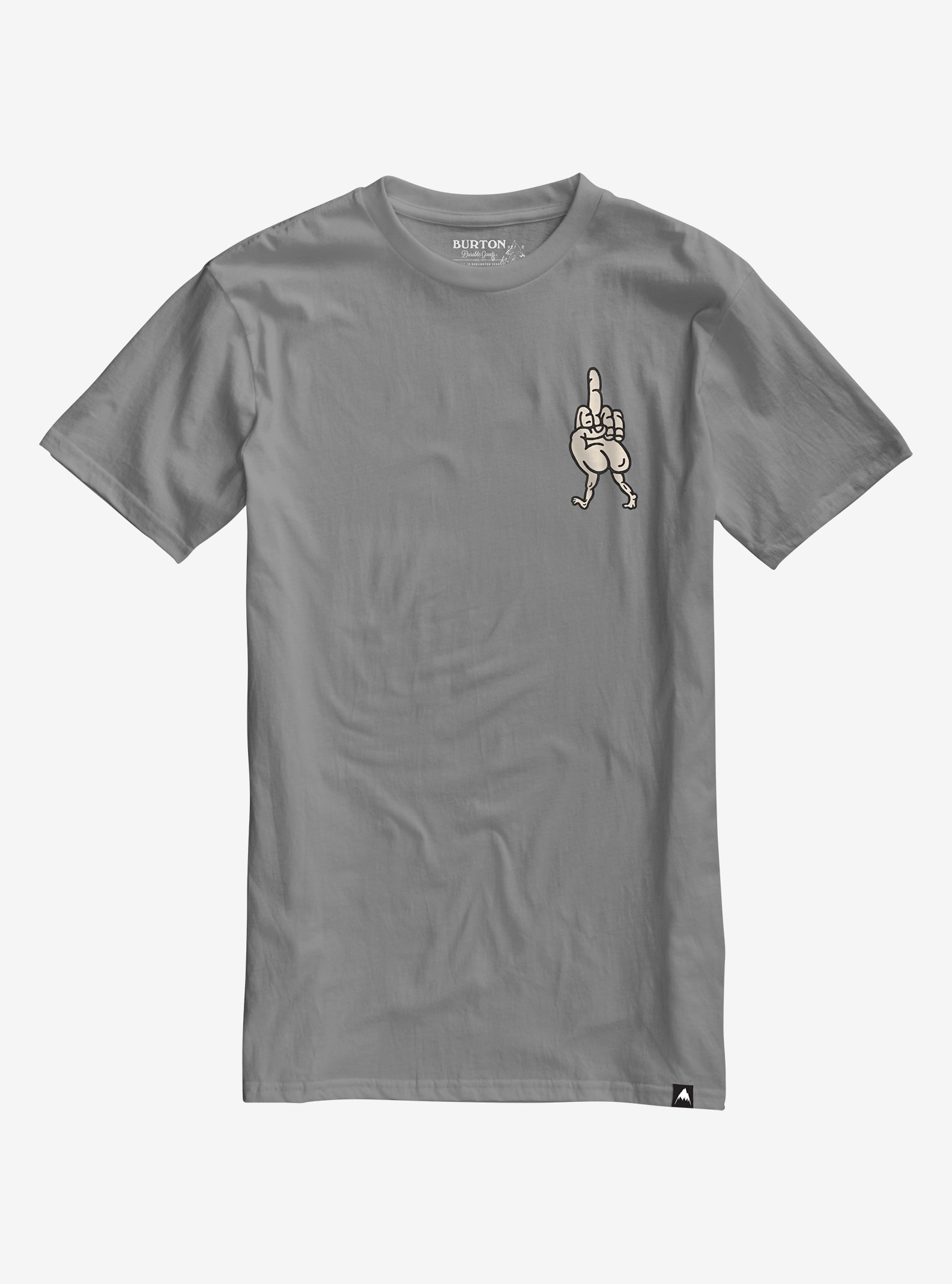 Burton Get Lost Short Sleeve T Shirt shown in Gray Heather