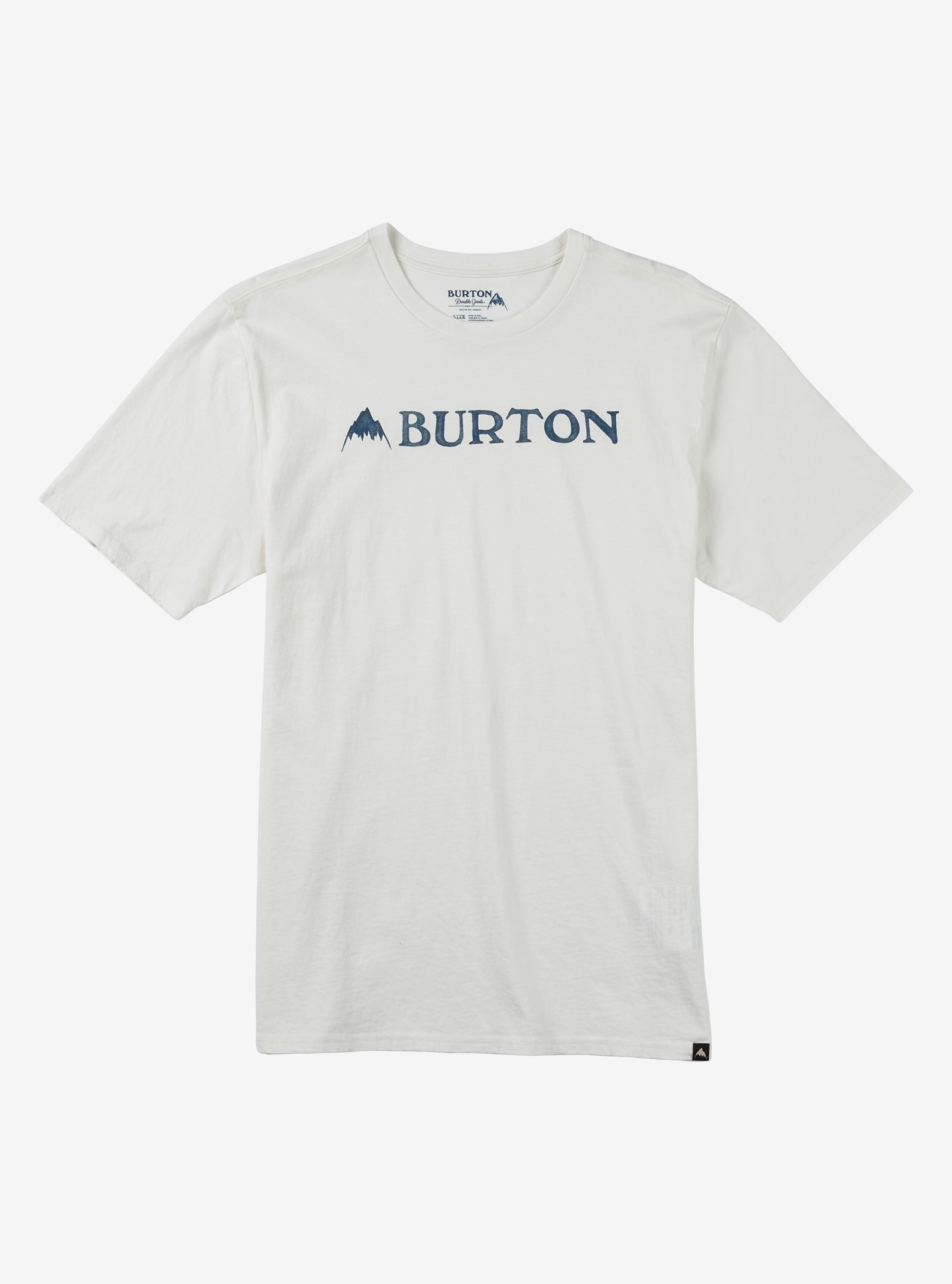 Burton MTN Horizontal Short Sleeve T Shirt shown in Stout White