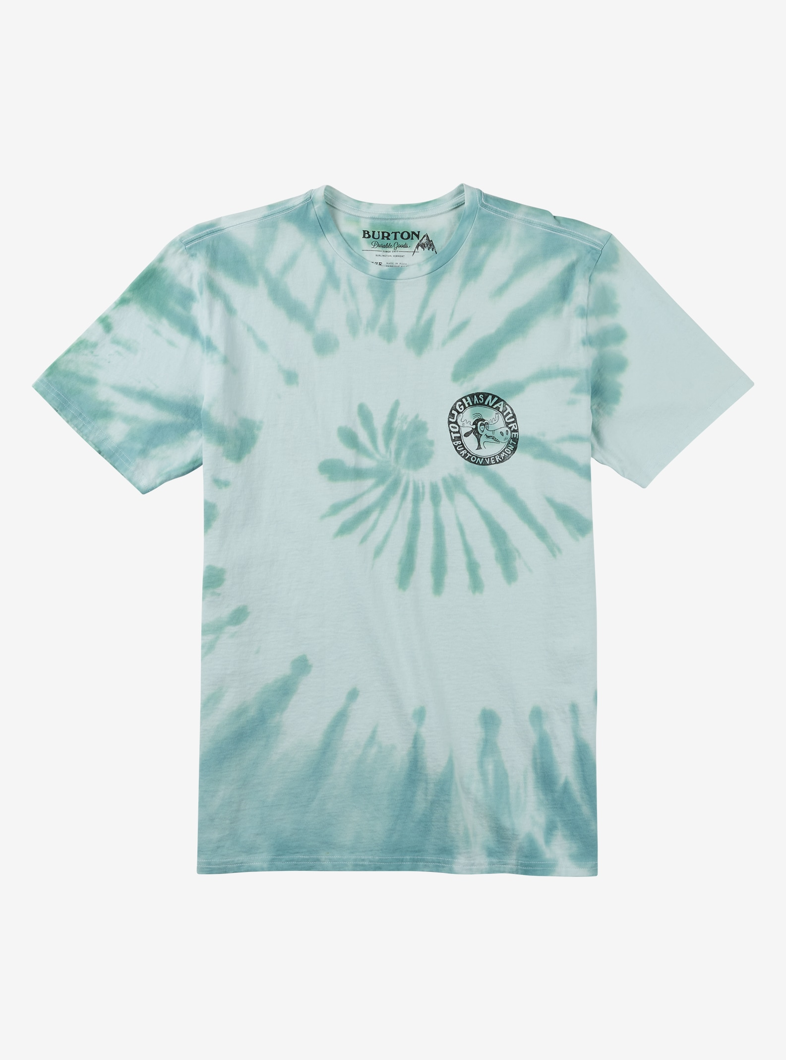 Burton Spiral Dye Short Sleeve T Shirt shown in Tough as Nature Tie Dye