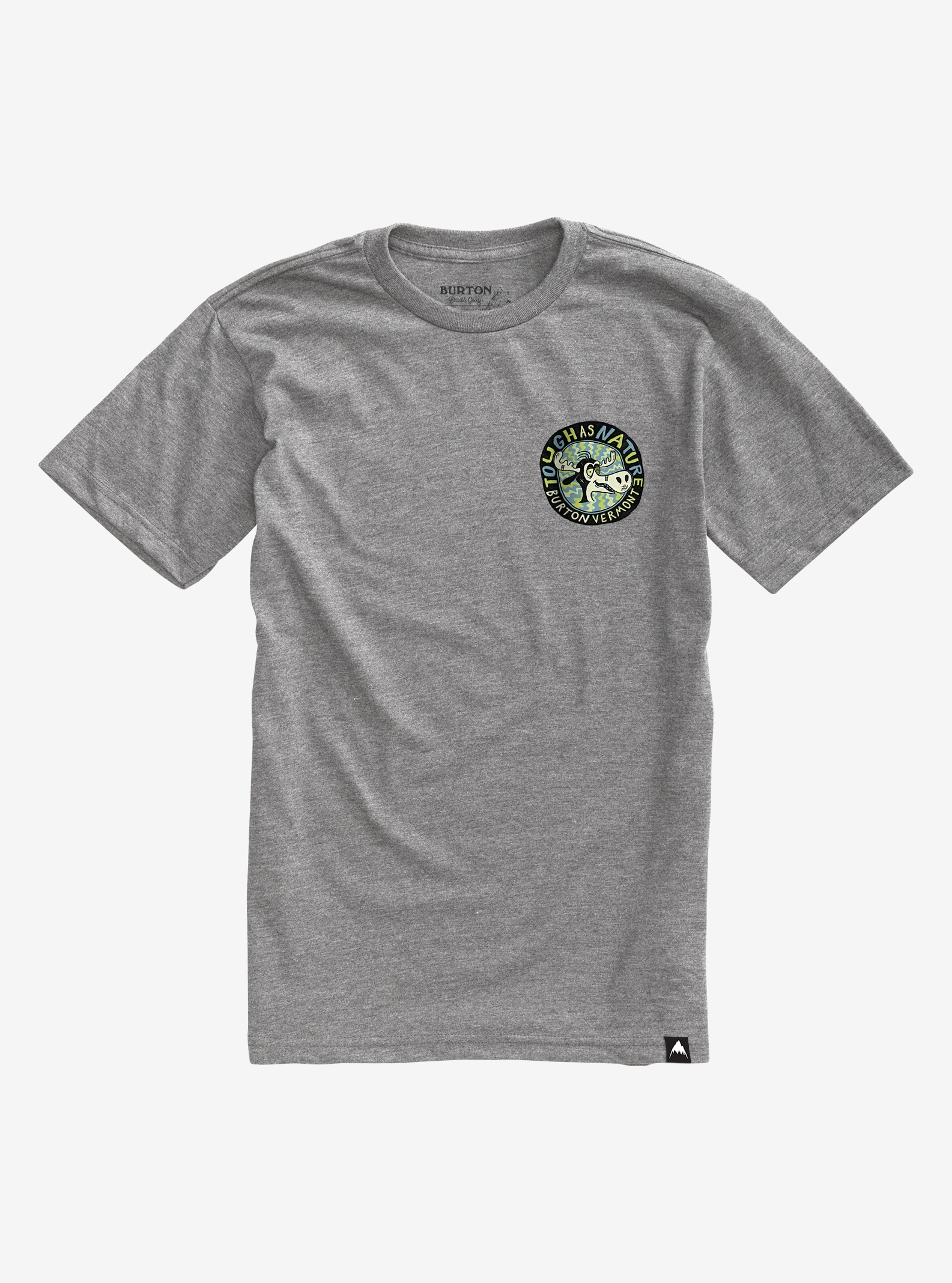 Burton Tough as Nature Short Sleeve T Shirt shown in Gray Heather