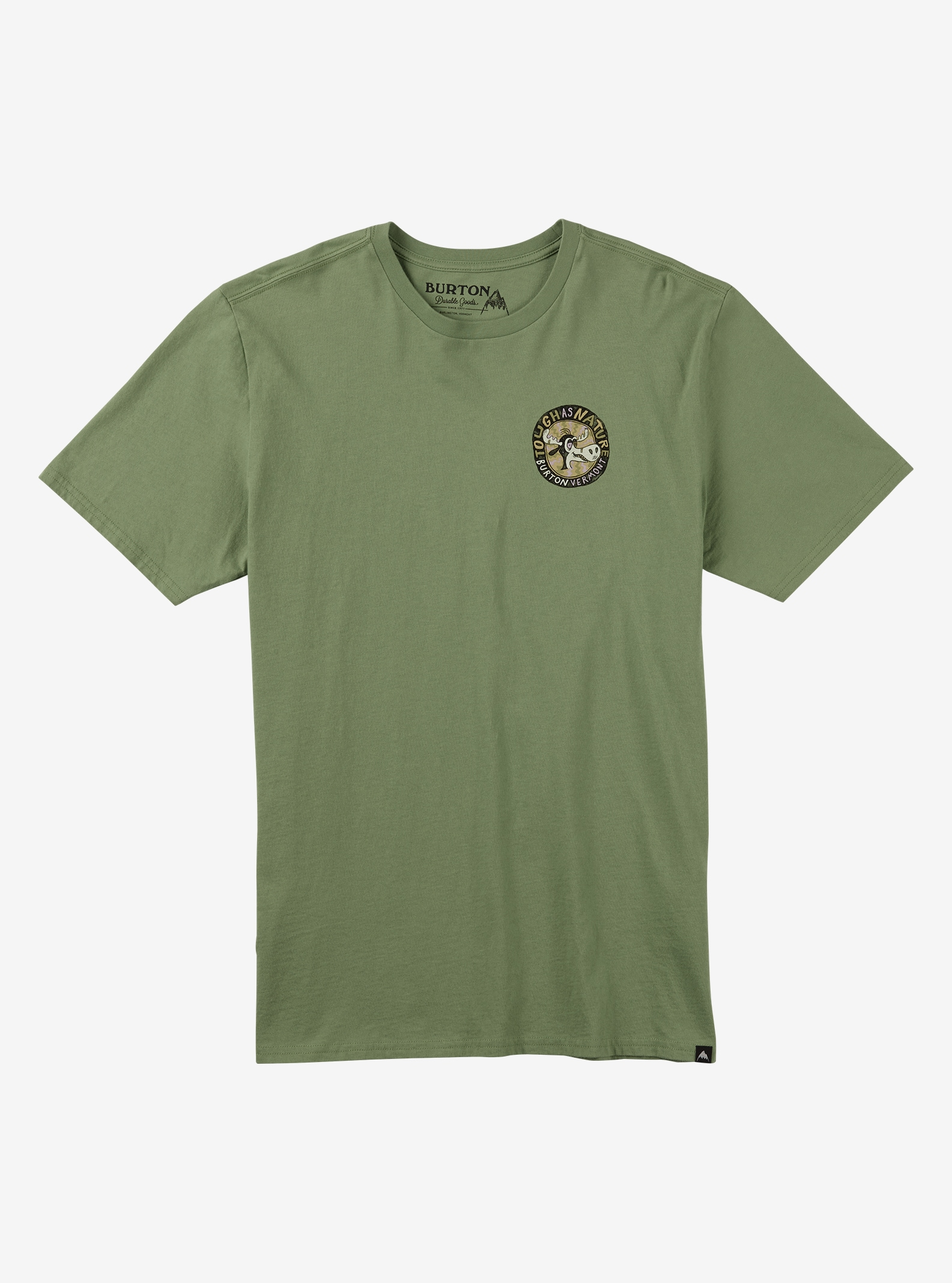 Burton Tough as Nature Short Sleeve T Shirt shown in Grass Green