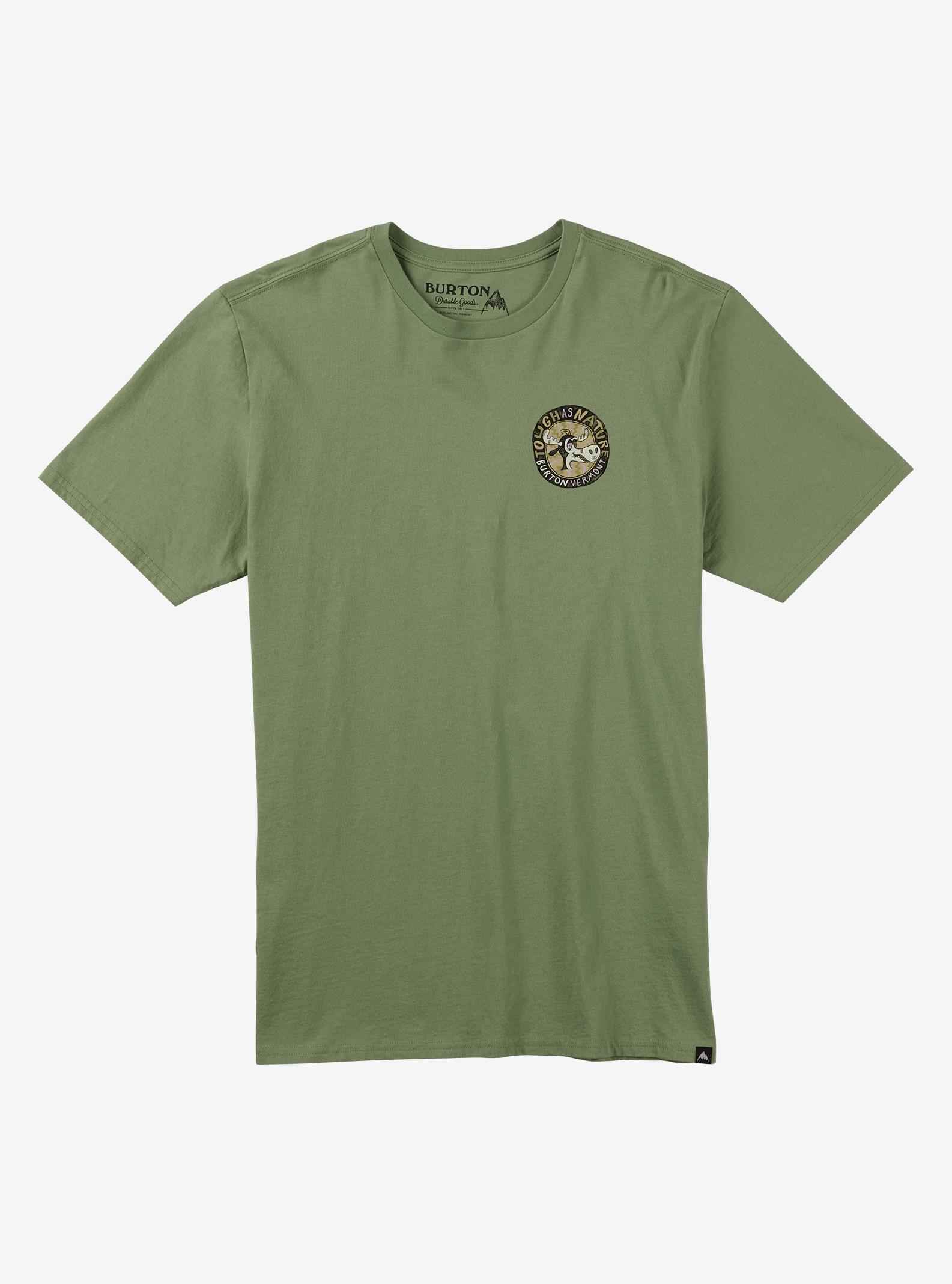 Burton Tough as Nature Short Sleeve T Shirt shown in Grass Green