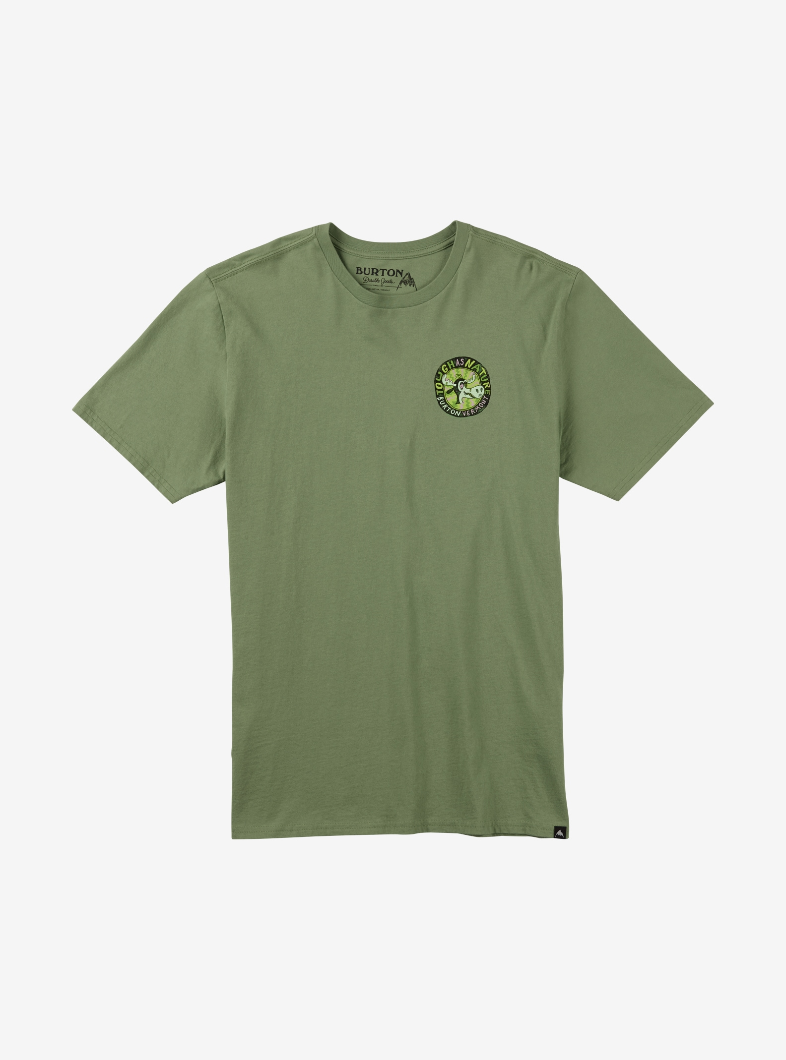 Burton Tough as Nature Short Sleeve T Shirt shown in Oil Green