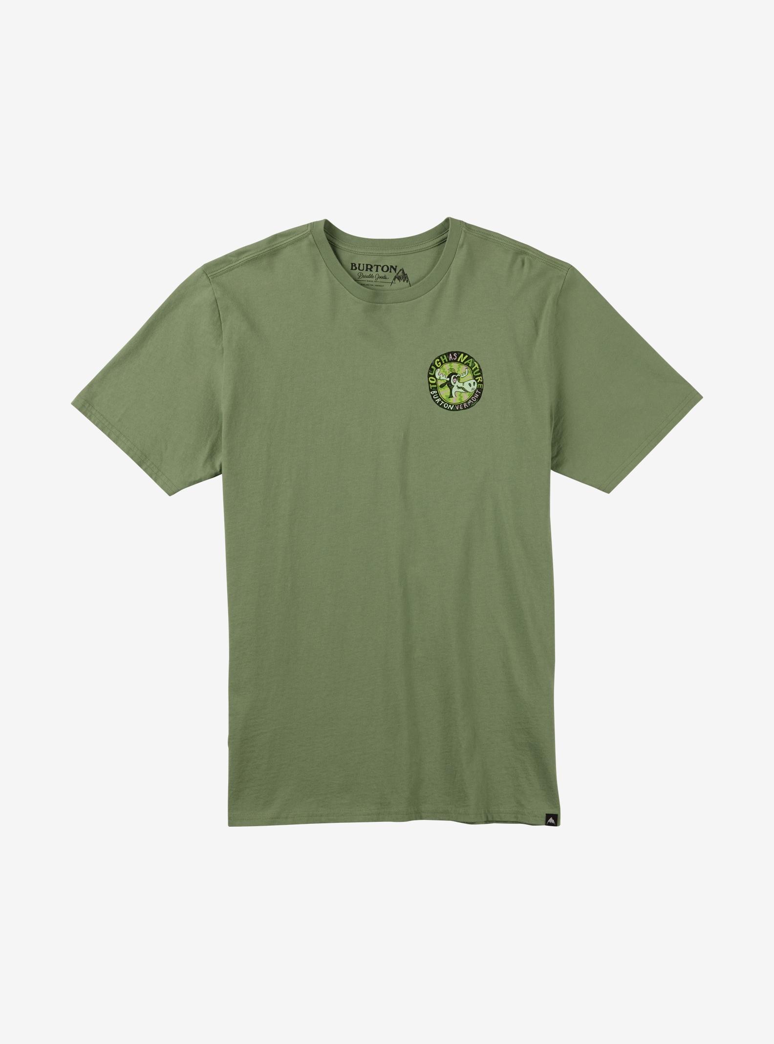 Burton Tough as Nature Short Sleeve T Shirt shown in Oil Green