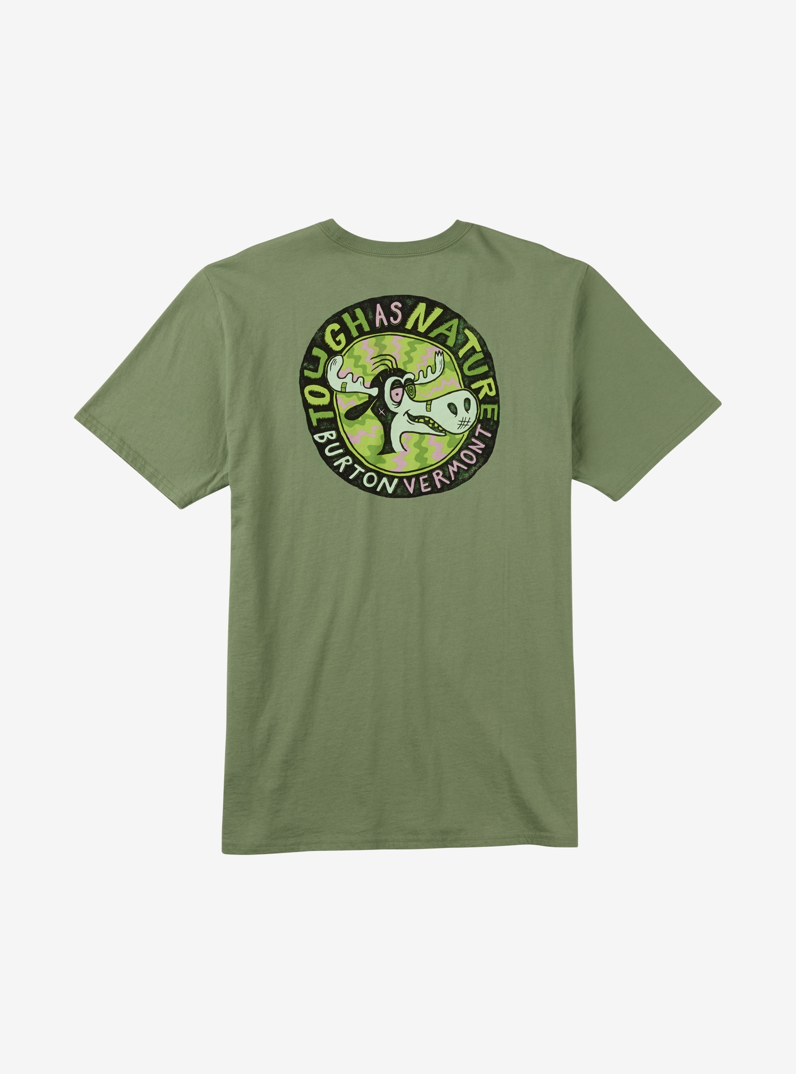 Burton Tough as Nature T-Shirt angezeigt in Oil Green