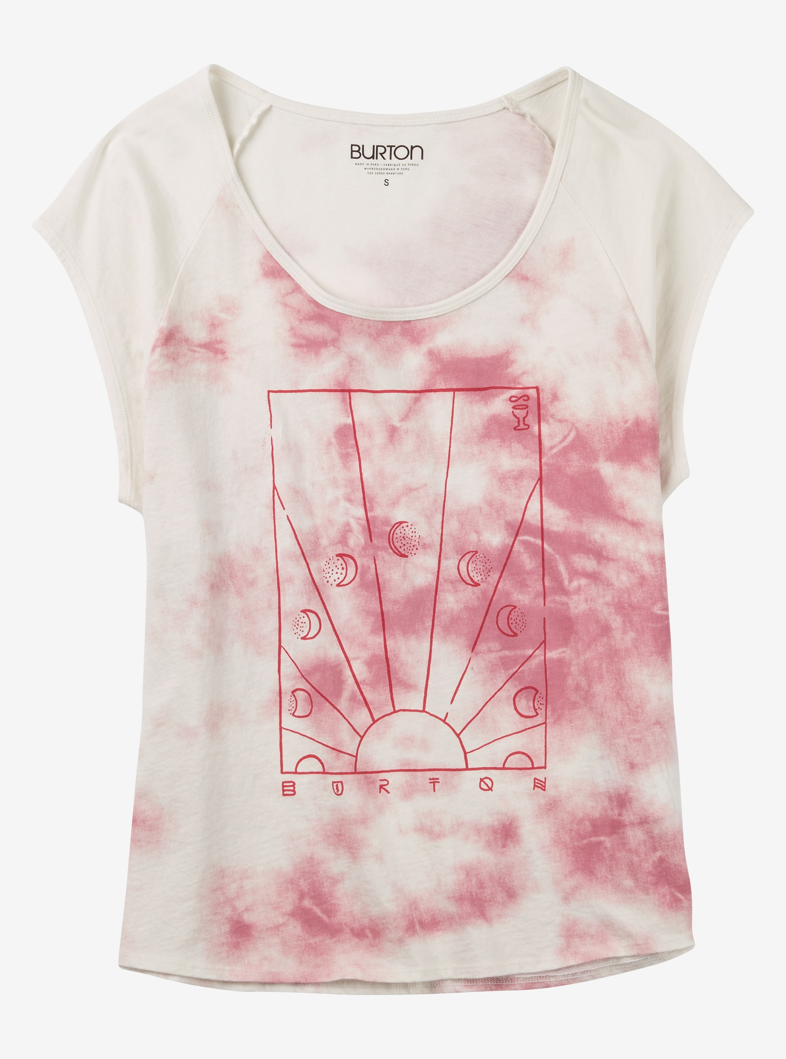 Burton Dawn T-Shirt angezeigt in Berry Tie Dye