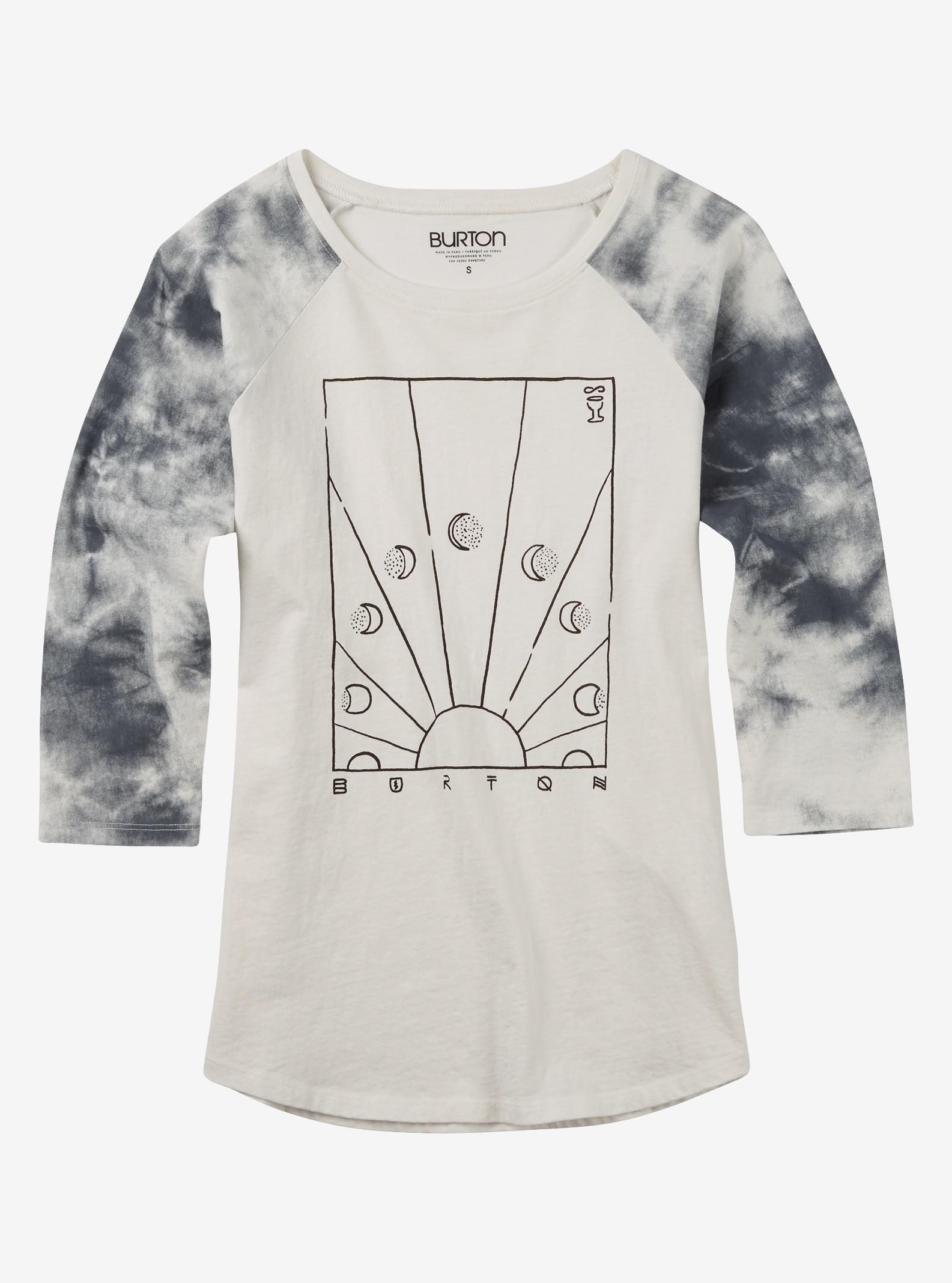 Burton Dusk Shirt mit 3/4 Raglanärmeln angezeigt in Stout White