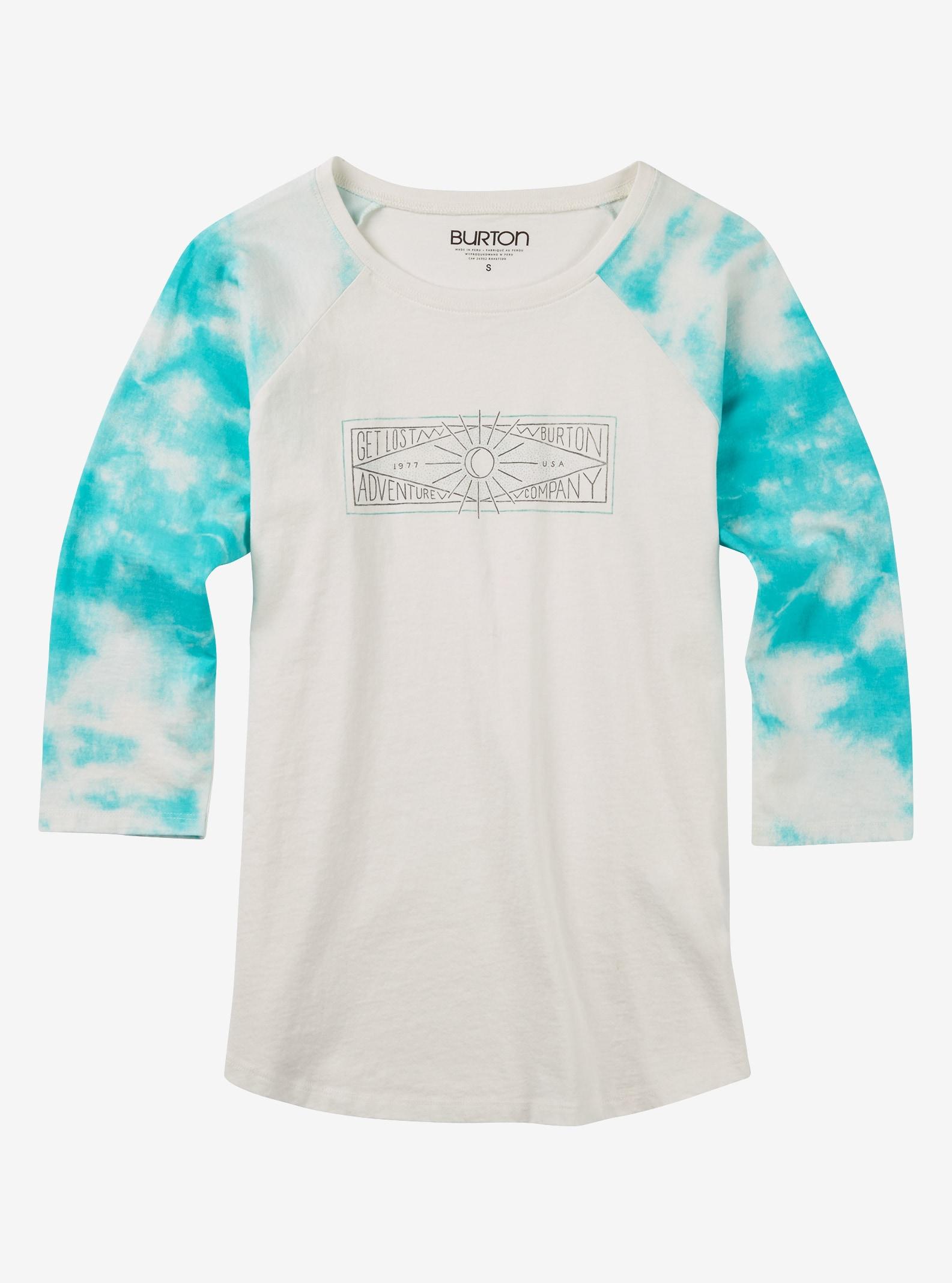 Burton Moon Rise Shirt mit 3/4 Raglanärmeln angezeigt in Agate Tie Dye
