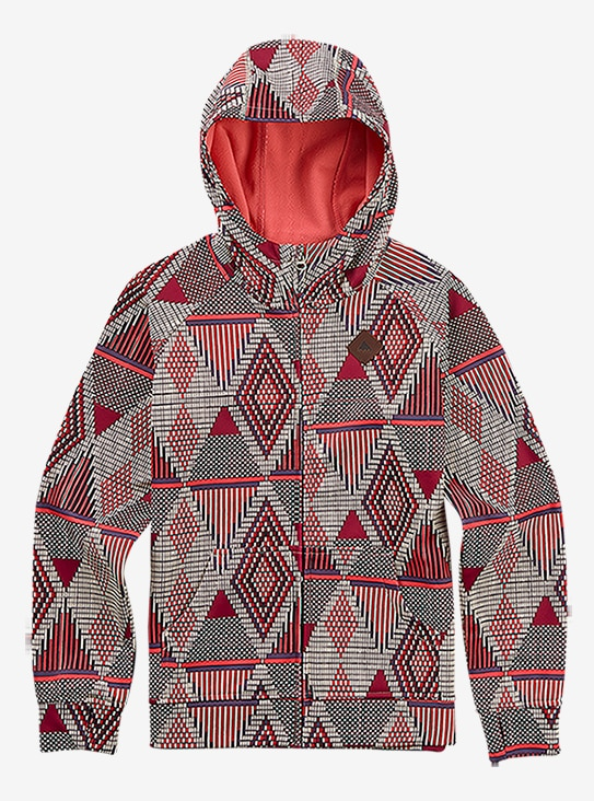 Burton Girls' Scoop Full-Zip Hoodie shown in Anemone De Geo