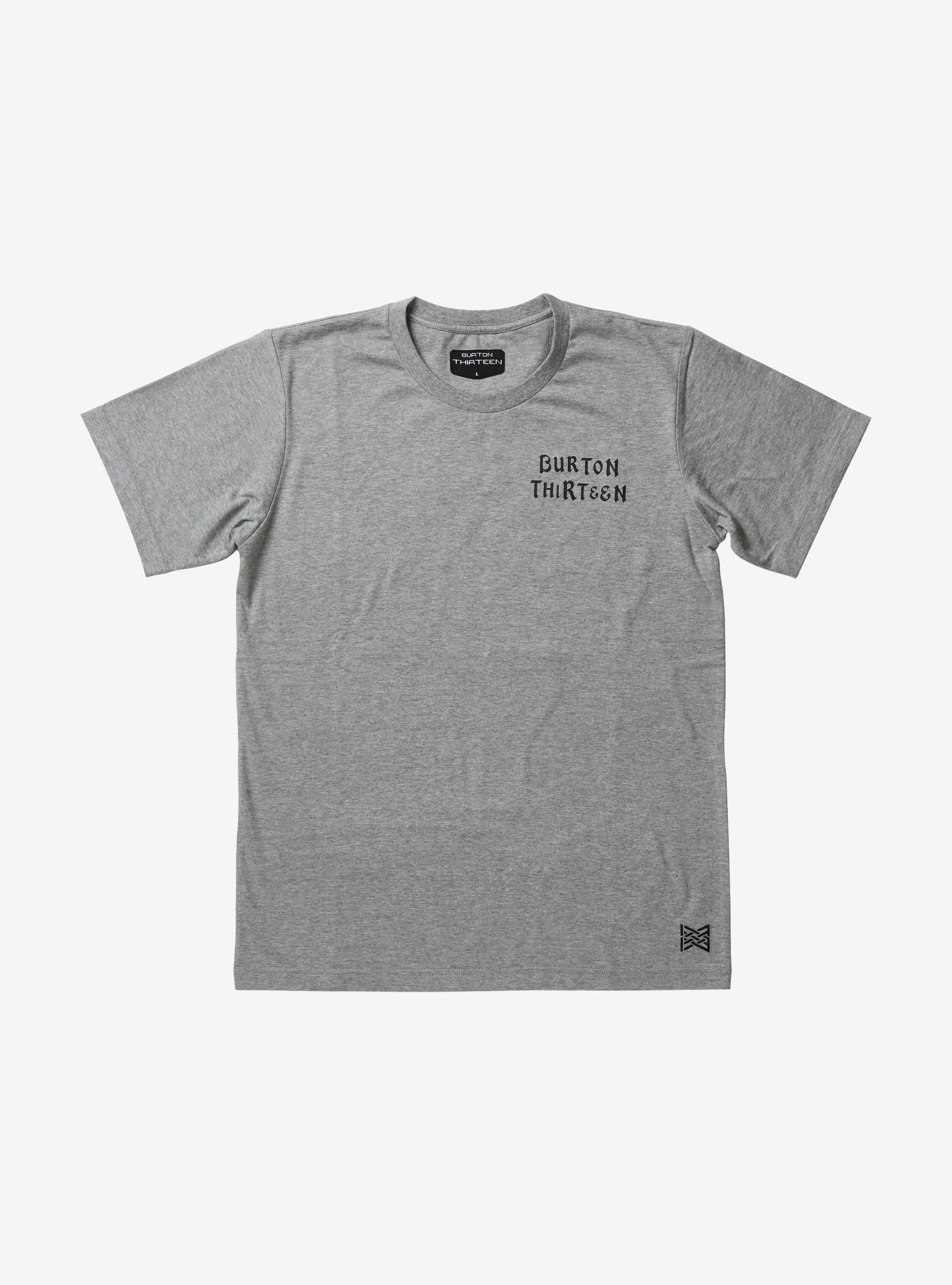 Burton Thirteen Okypete Short Sleeve T Shirt shown in Heather Gray