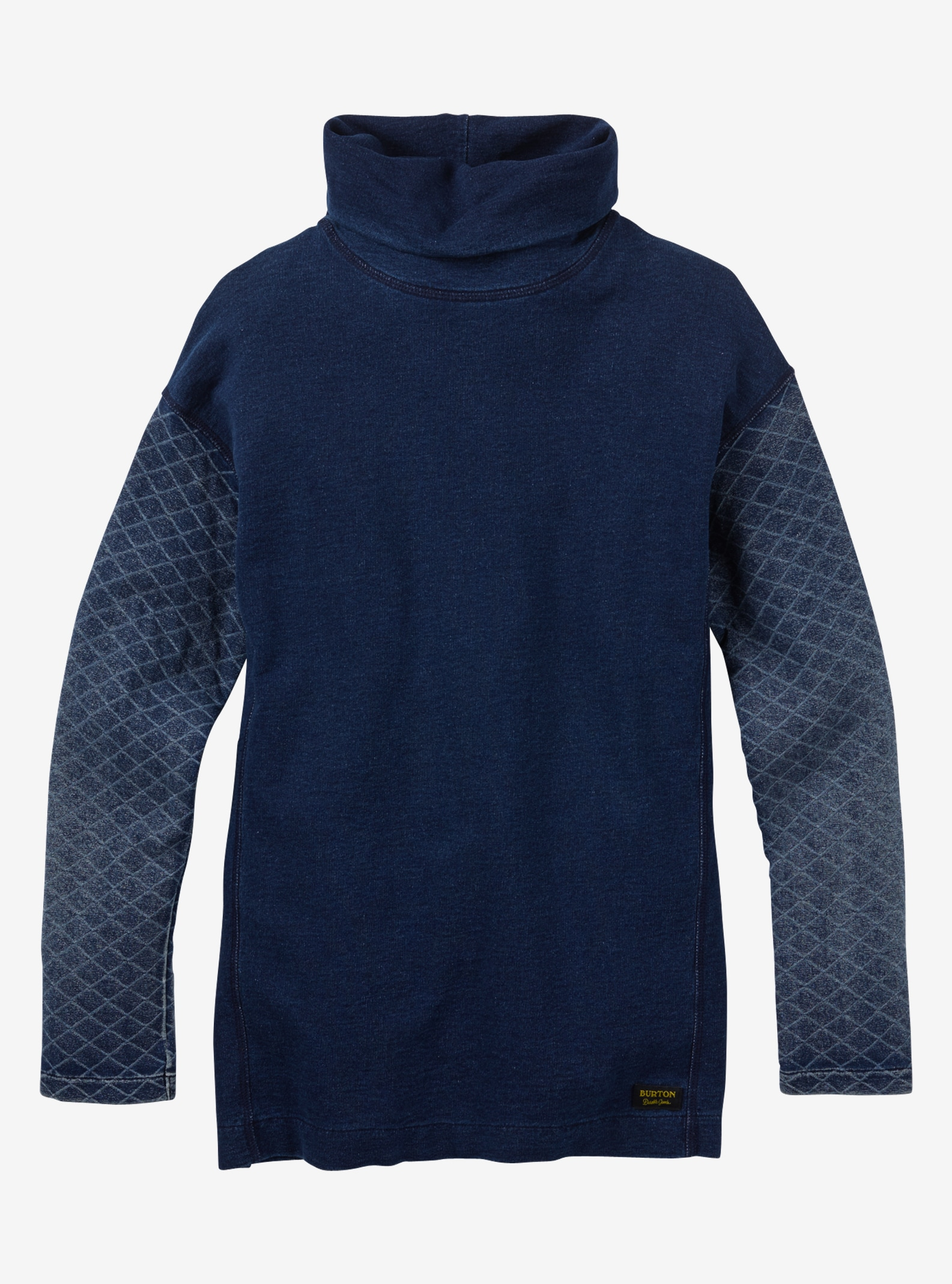 Burton Noonmark Funnel Neck shown in Indigo