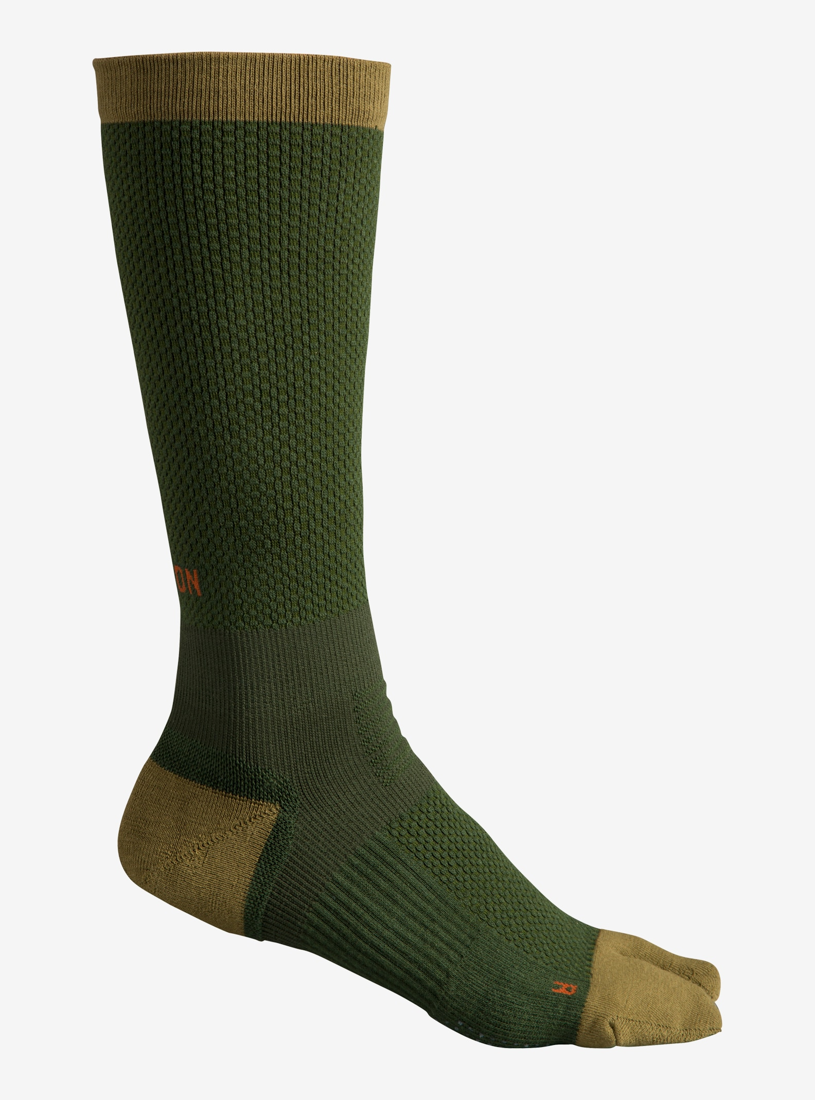 Burton Metaphor Sock shown in Rifle Green