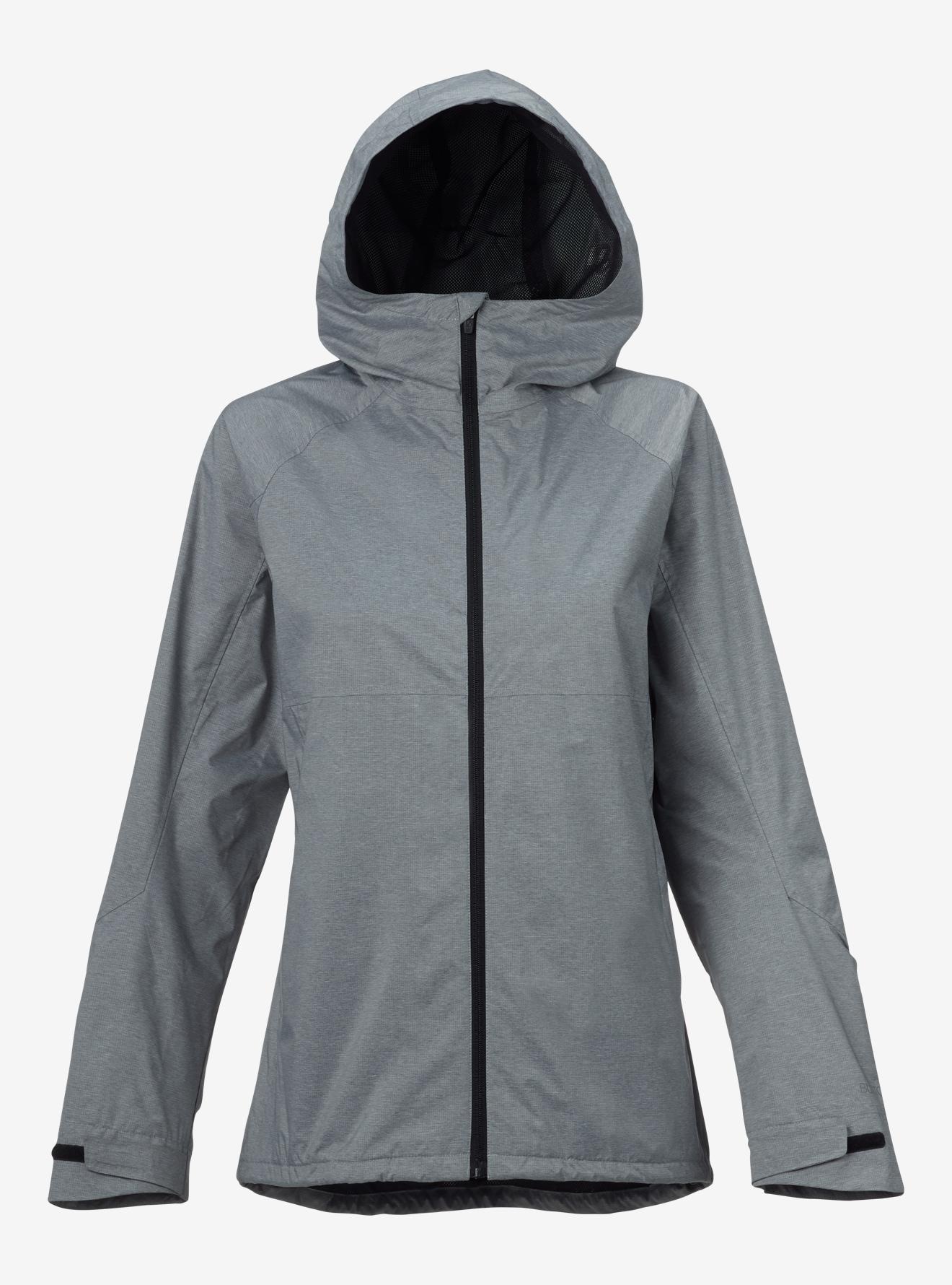 Burton Girls' Berkley Rain Jacket shown in True Black Heather