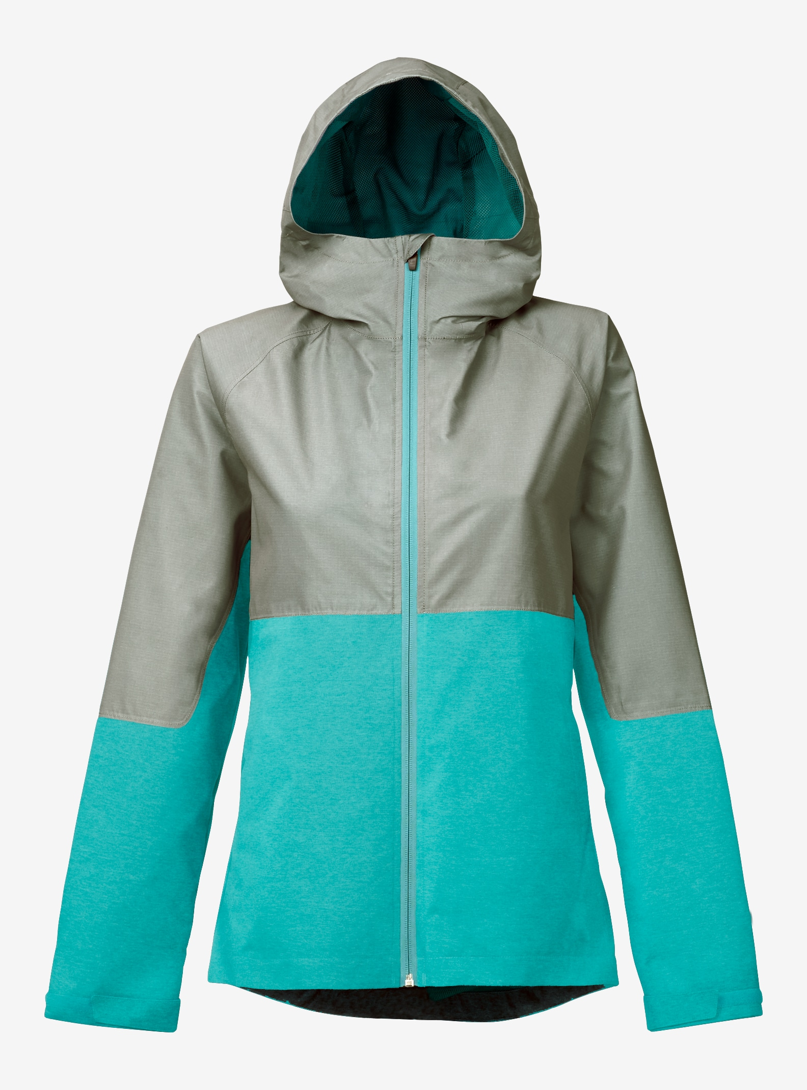 Burton Girls' Berkley Rain Jacket shown in Lichen Green Heather / Everglade Heather