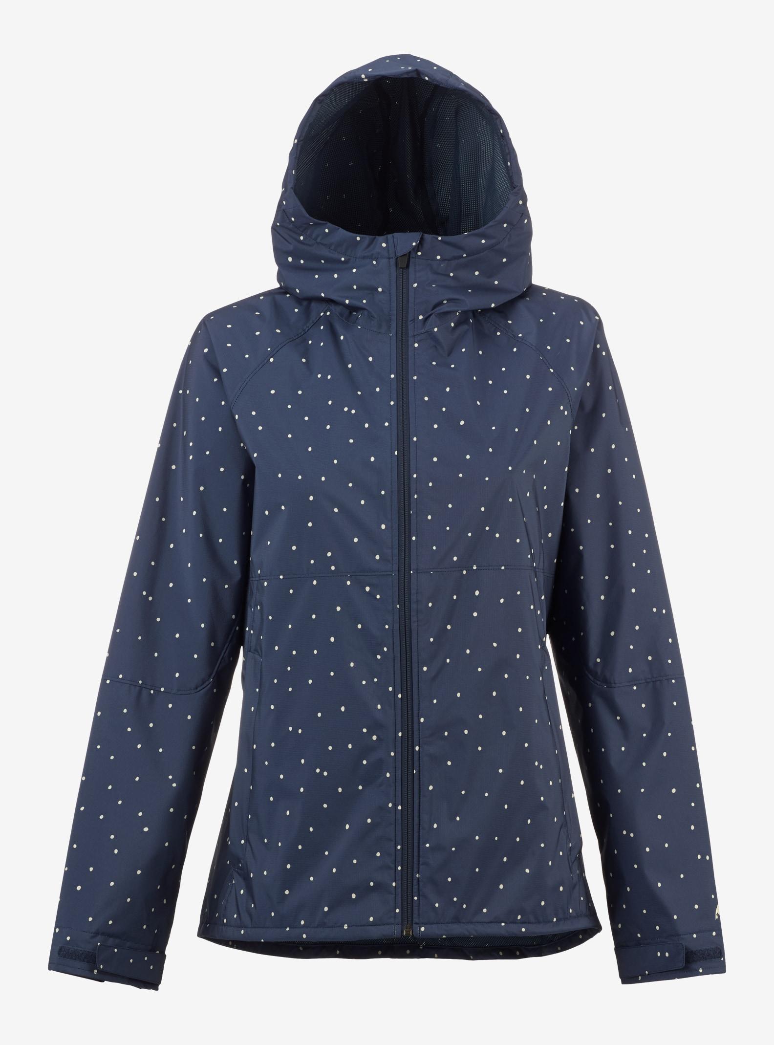 Burton Girls' Berkley Rain Jacket shown in Mood Indigo Dots